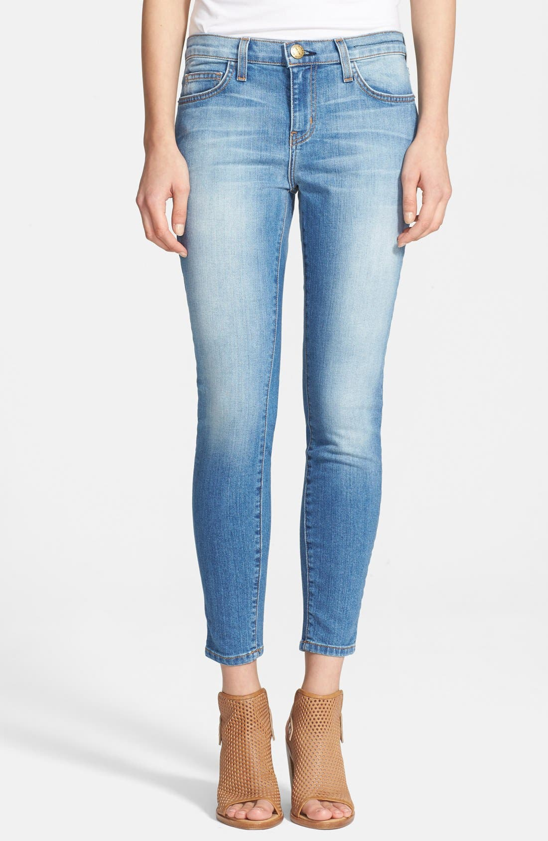 'The Stiletto' Destroyed Skinny Jeans,                             Main thumbnail 6, color,