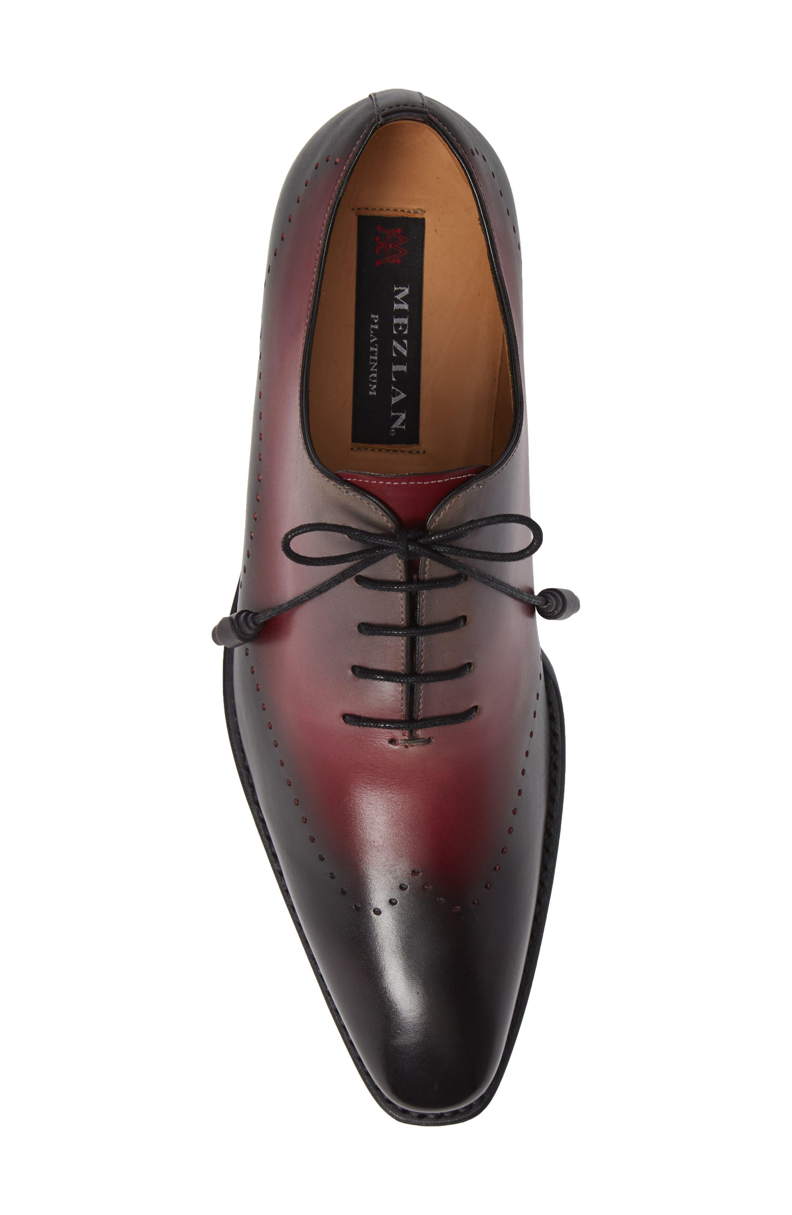 Addy Wingtip Whole Cut Shoe,                             Alternate thumbnail 5, color,                             BLACK LEATHER