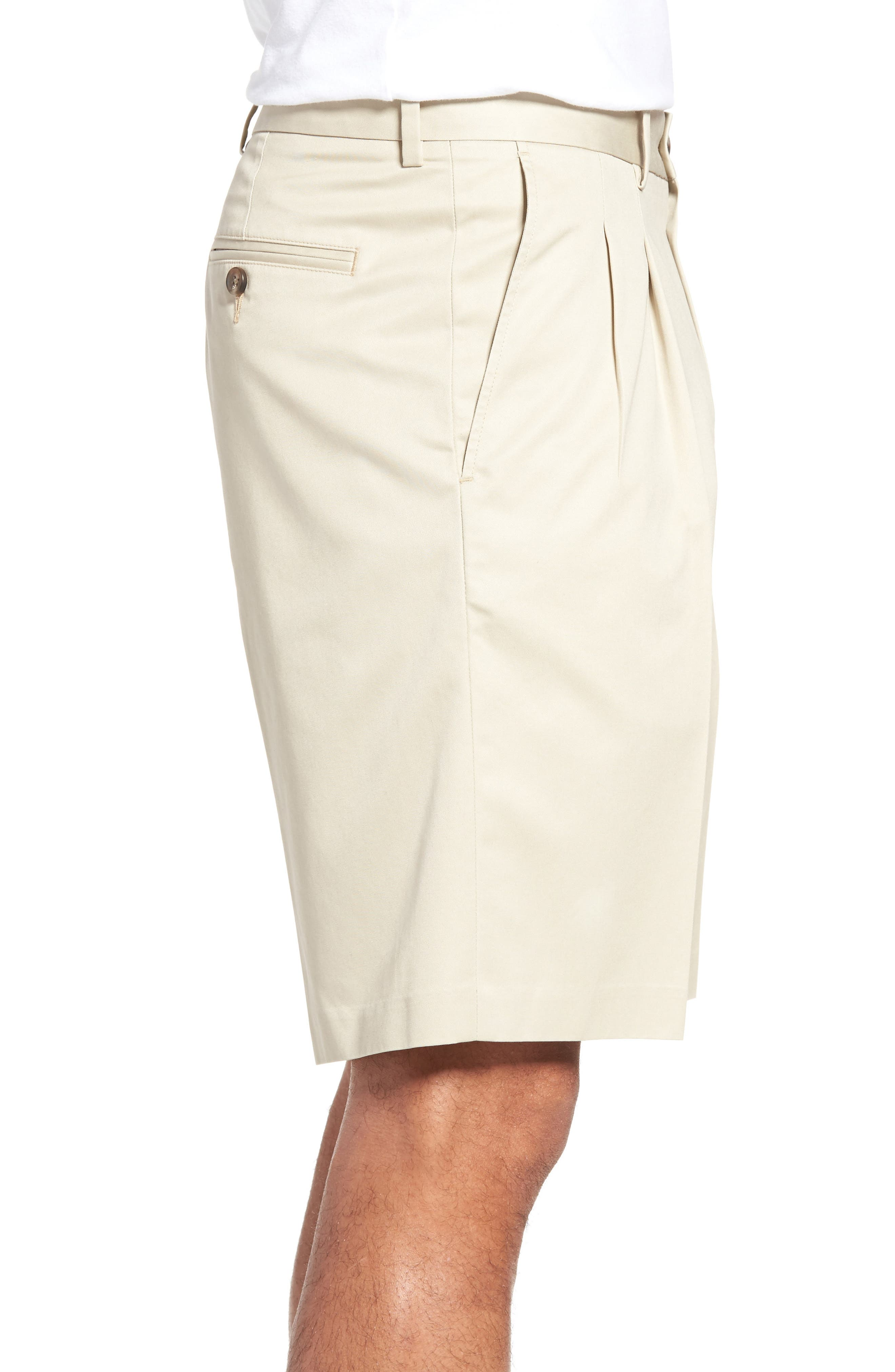 Pleated Supima<sup>®</sup> Cotton Shorts,                             Alternate thumbnail 14, color,