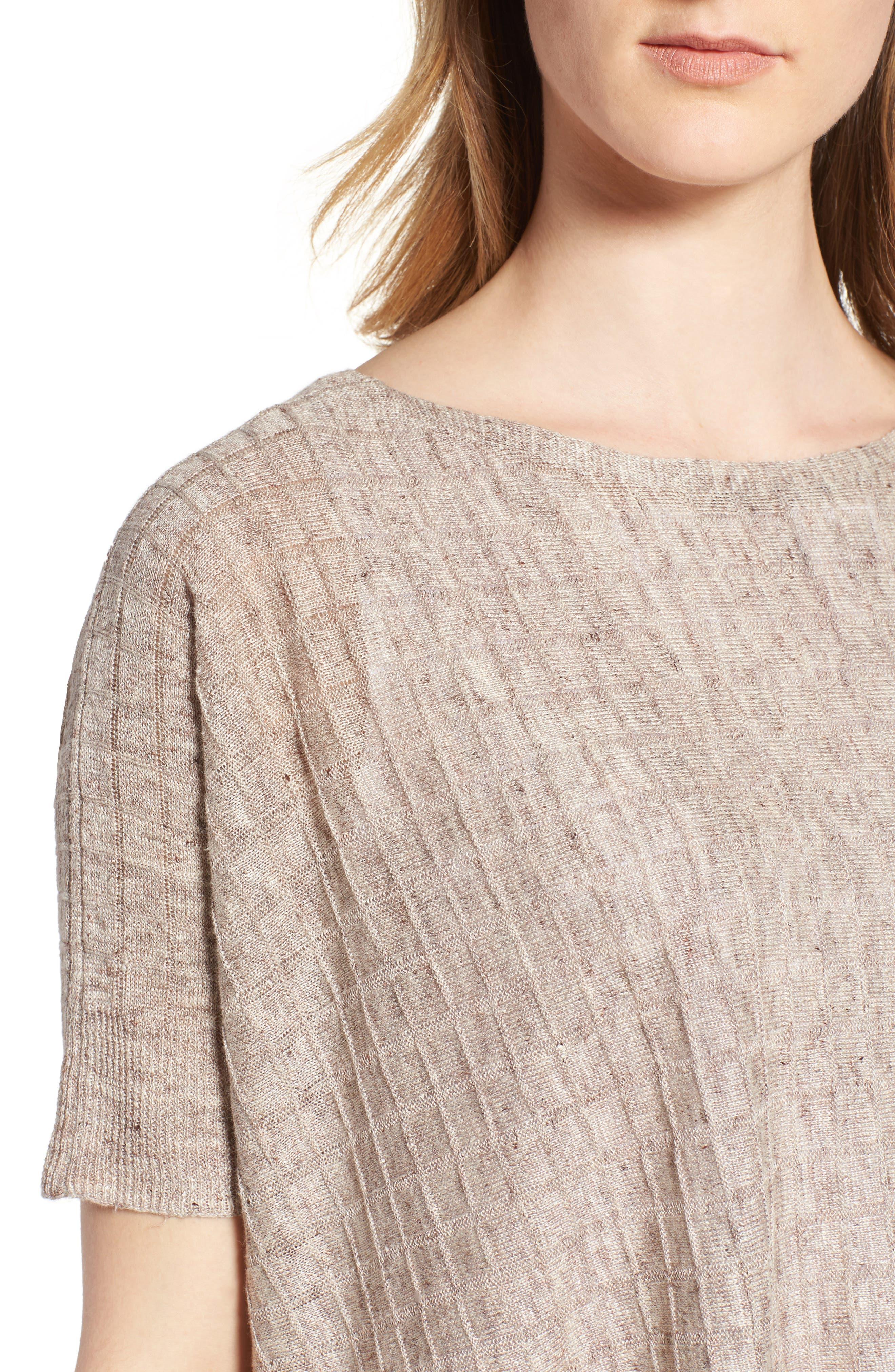 Linen Side Slit Sweater,                             Alternate thumbnail 4, color,                             250