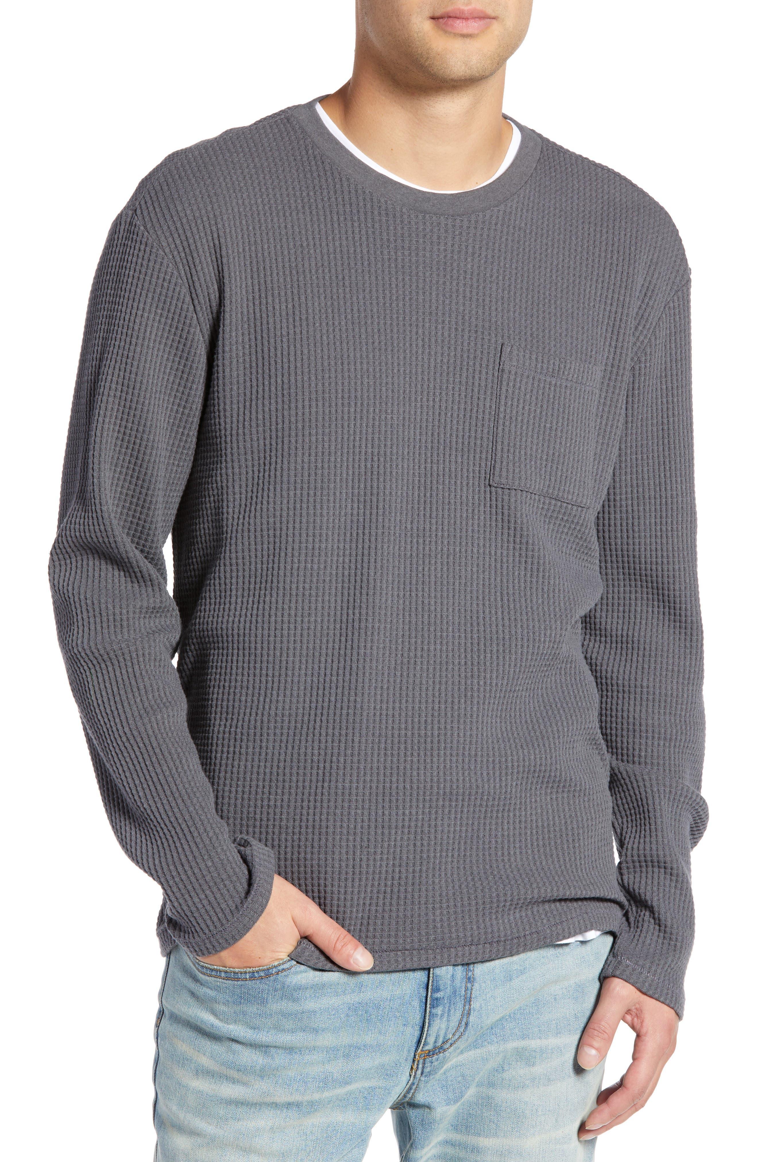 Regular Fit Thermal T-Shirt,                         Main,                         color, GREY TORNADO