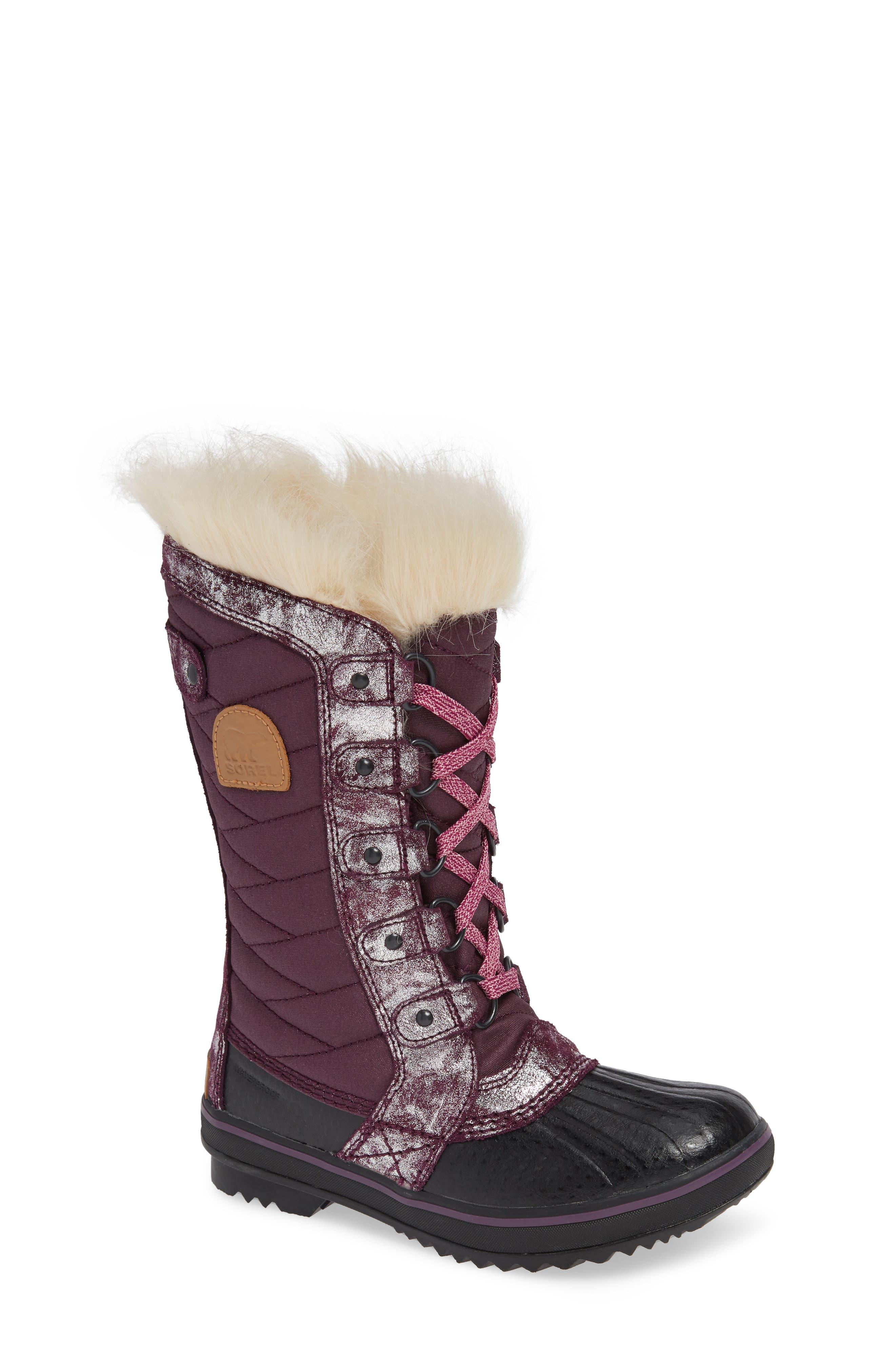 Tofino II Faux Fur Lined Waterproof Boot,                             Main thumbnail 1, color,                             562