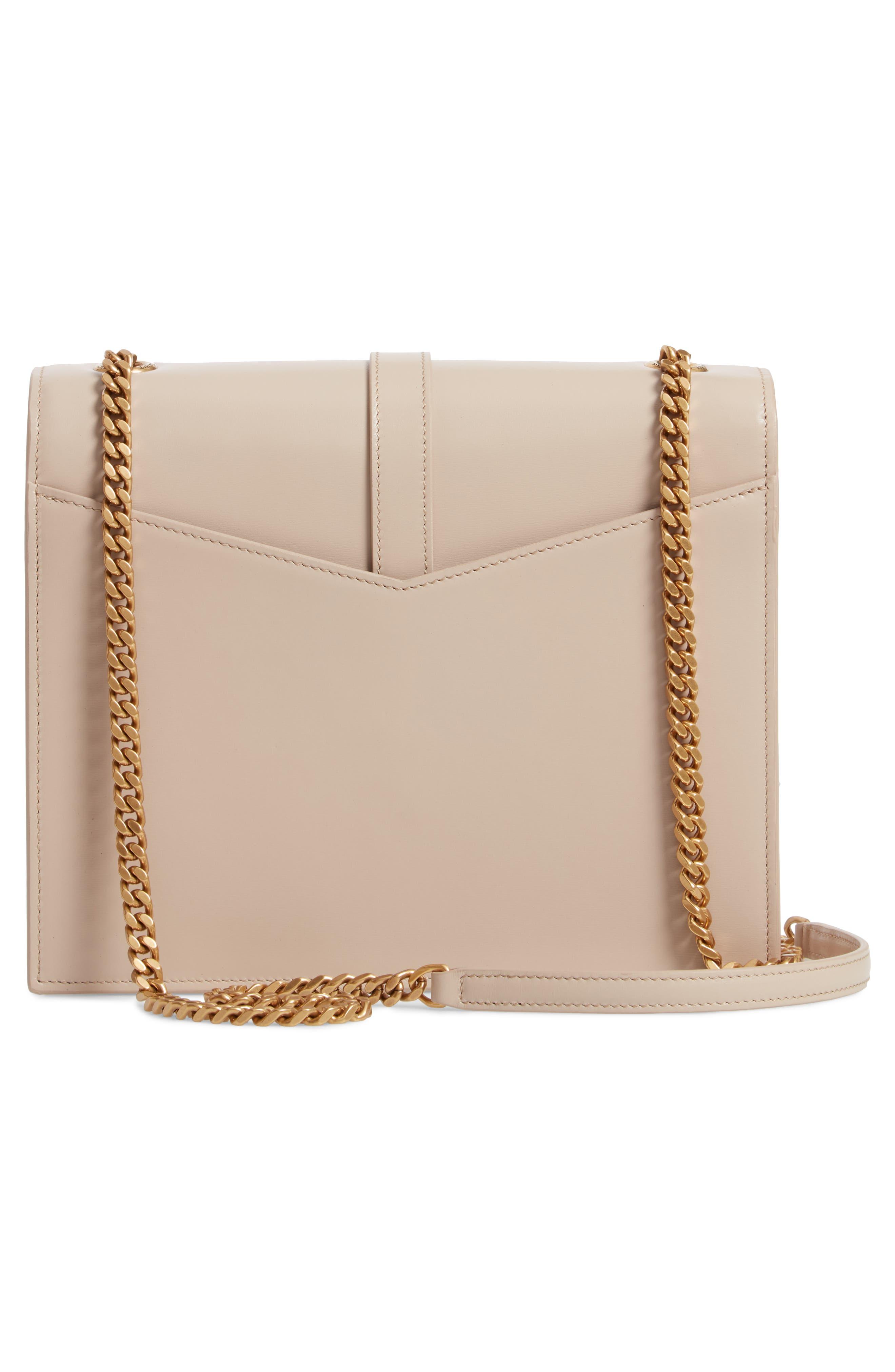 Sulpice Leather Shoulder Bag,                             Alternate thumbnail 3, color,                             LIGHT NATURAL