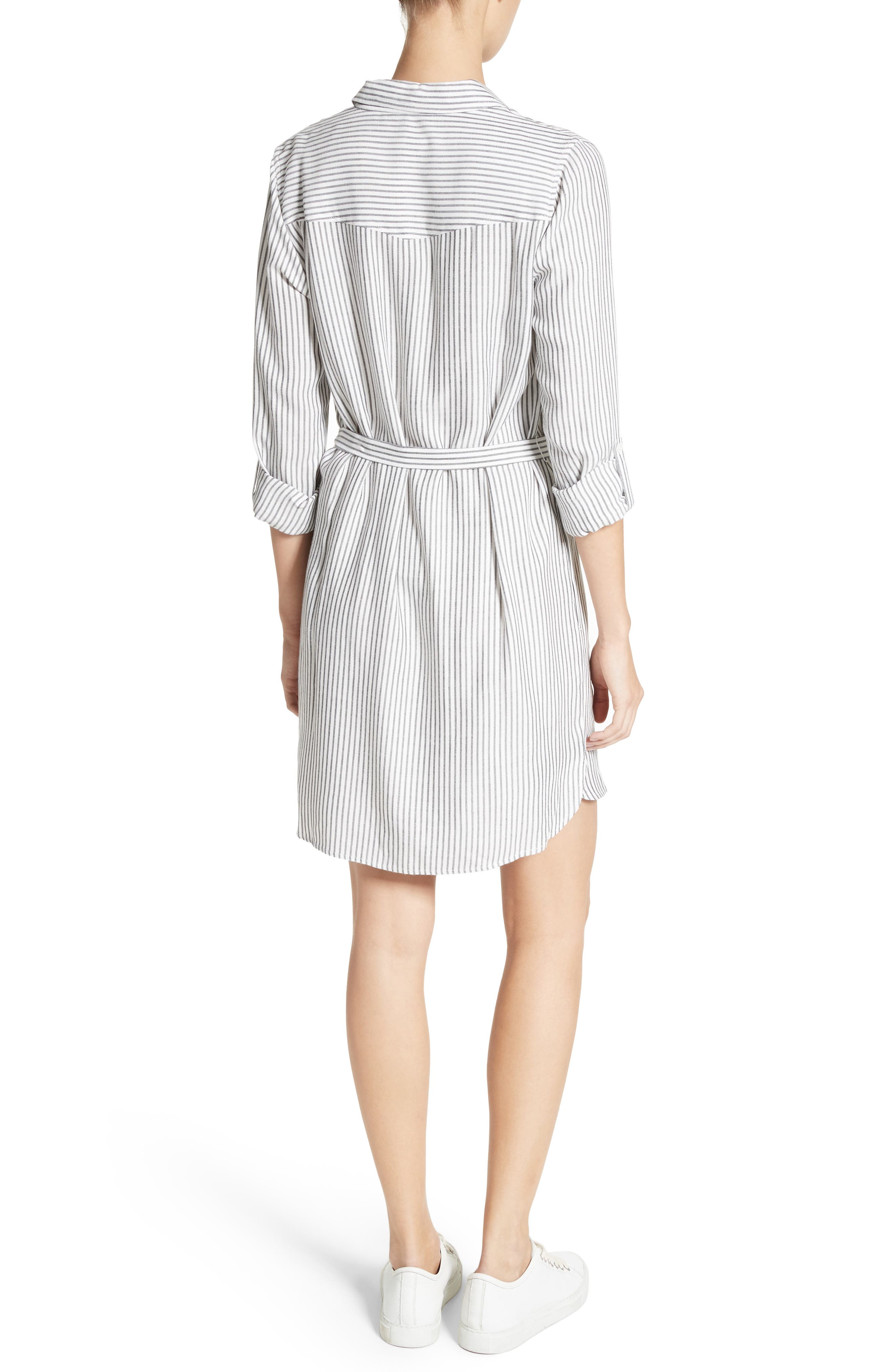Wila B Belted Stripe Shirtdress,                             Alternate thumbnail 2, color,                             123