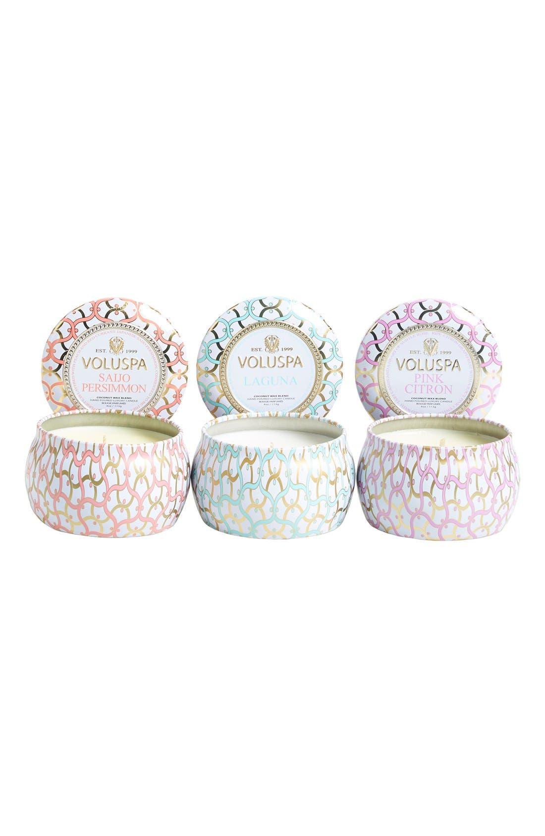 'Maison Blanc' Mini Tin Candle Trio,                             Alternate thumbnail 2, color,