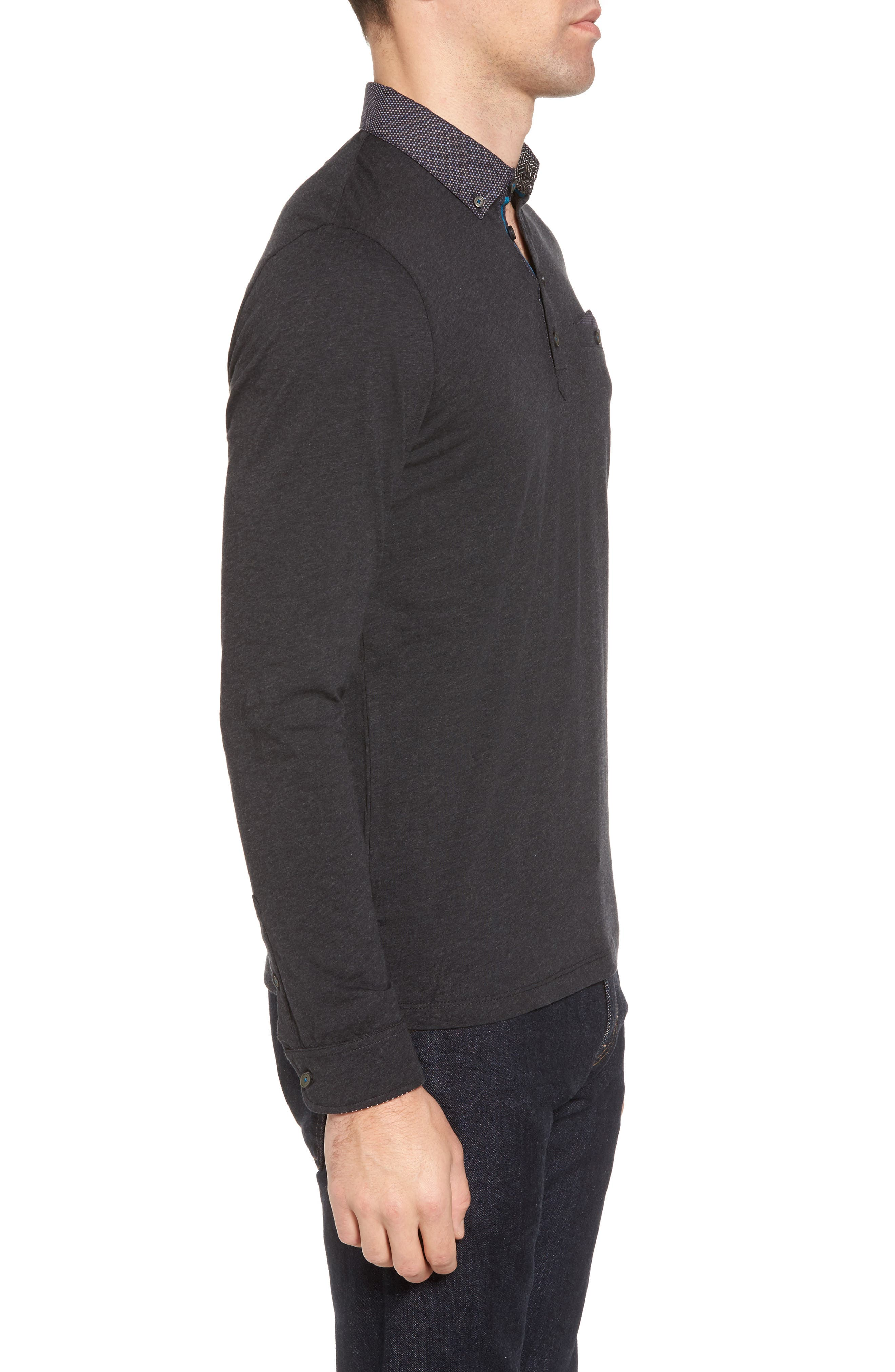 Spresso Long Sleeve Polo,                             Alternate thumbnail 3, color,                             010
