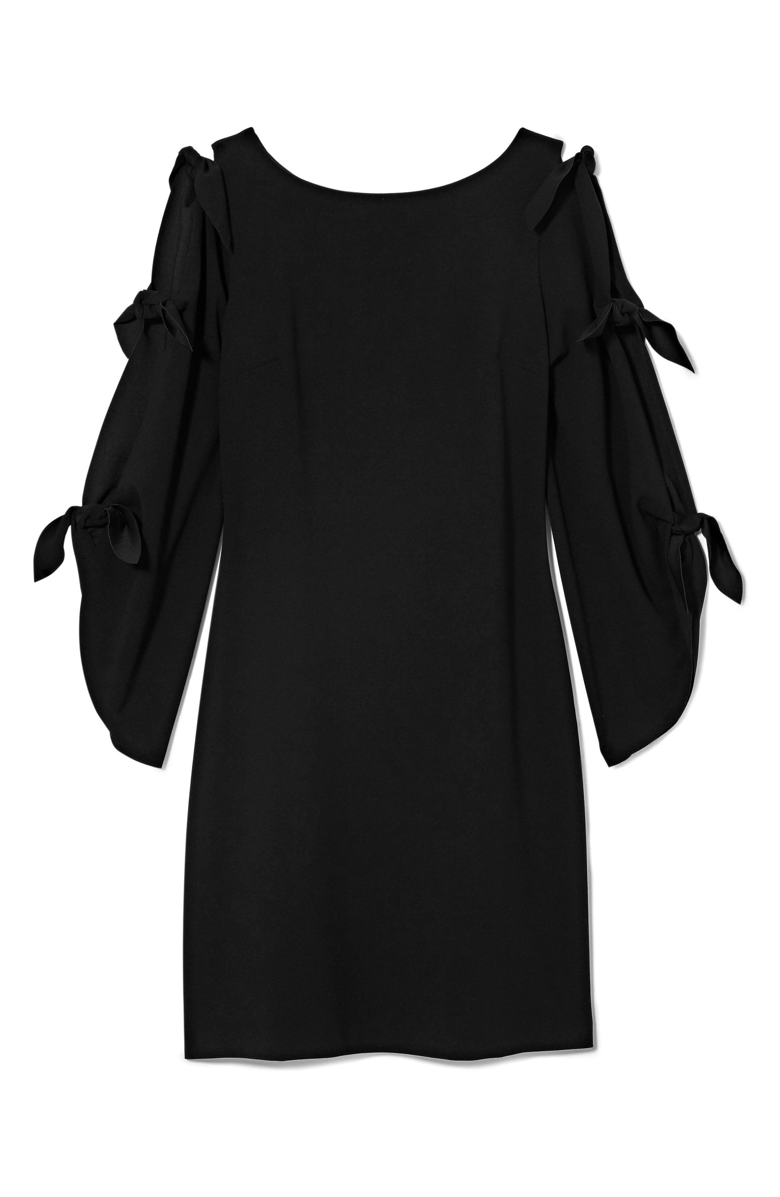 Tie Sleeve Shift Dress,                             Alternate thumbnail 9, color,
