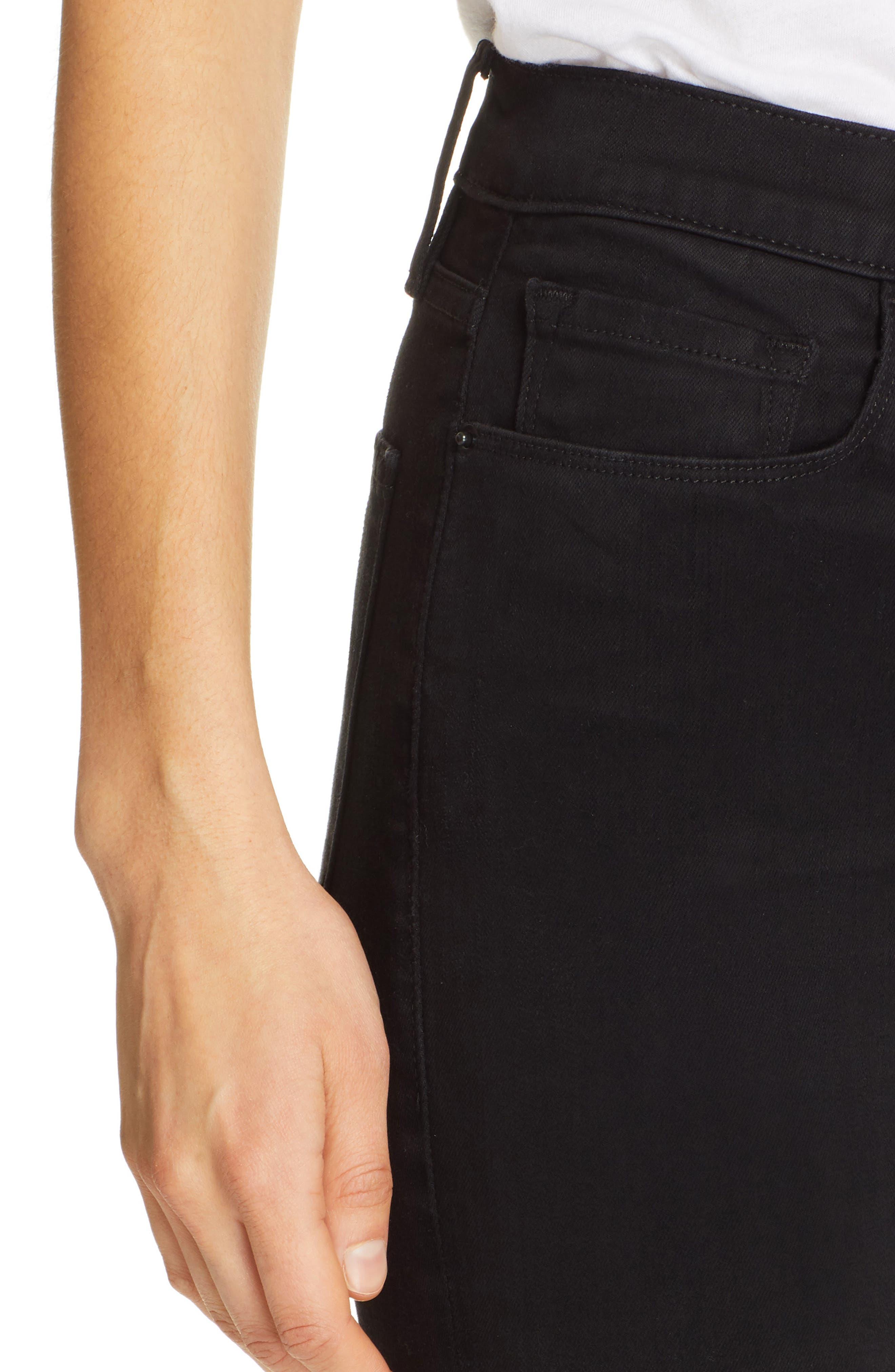 FRAME,                             Ali High Waist Cigarette Jeans,                             Alternate thumbnail 4, color,                             NOIR