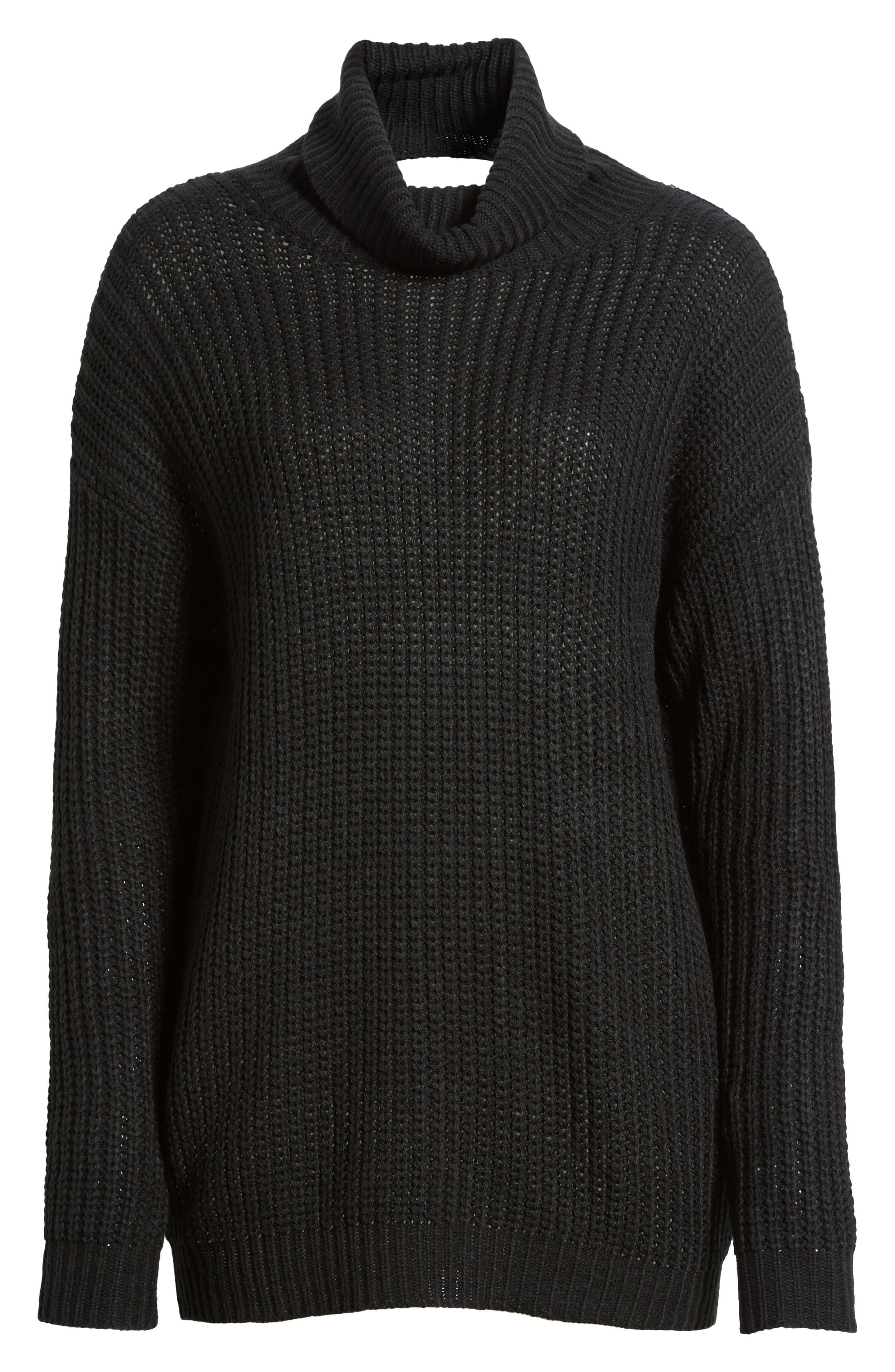 Sonya Open Back Sweater,                             Alternate thumbnail 6, color,                             001