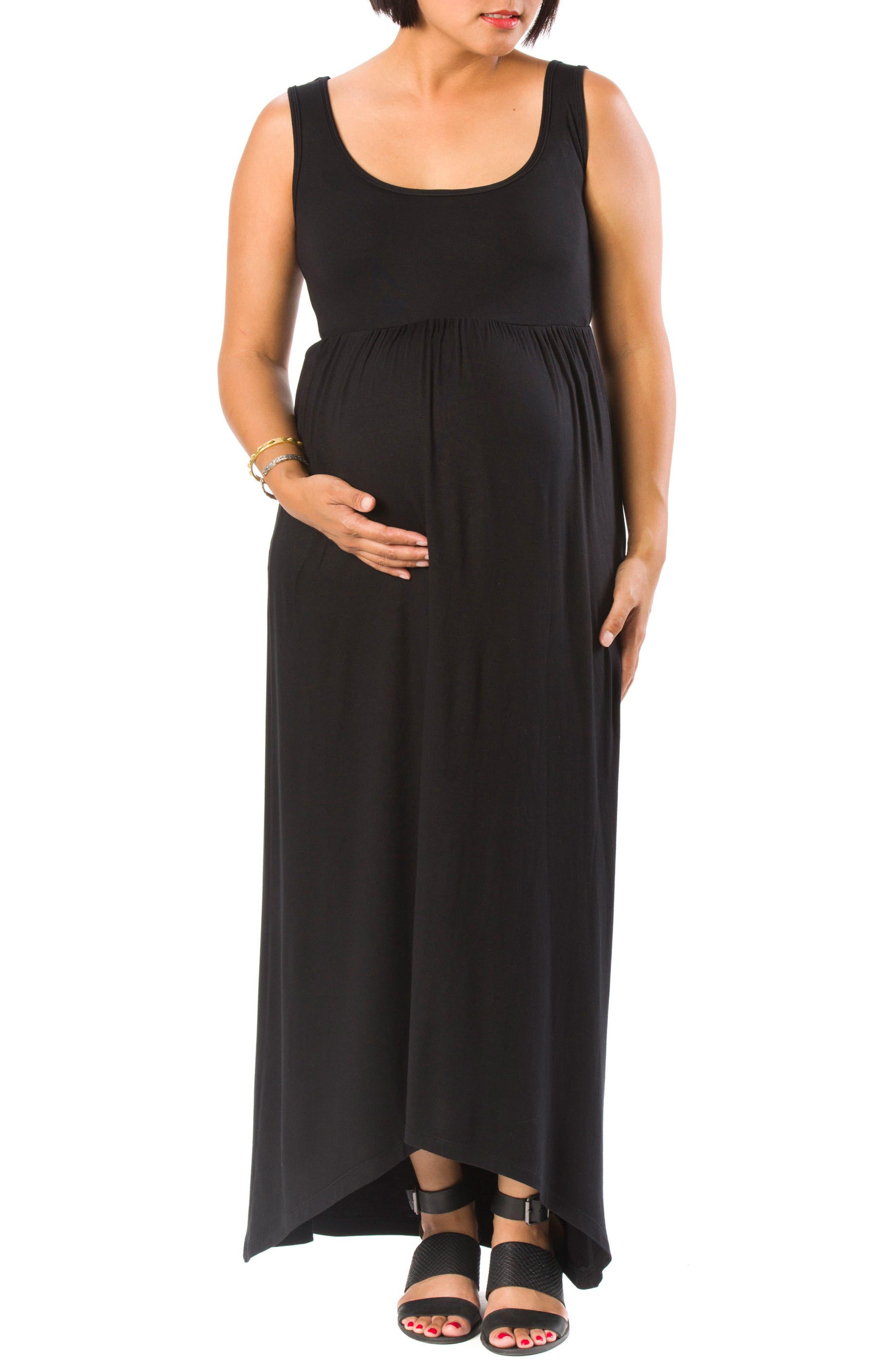 Emma Maternity/Nursing Dress,                         Main,                         color, BLACK