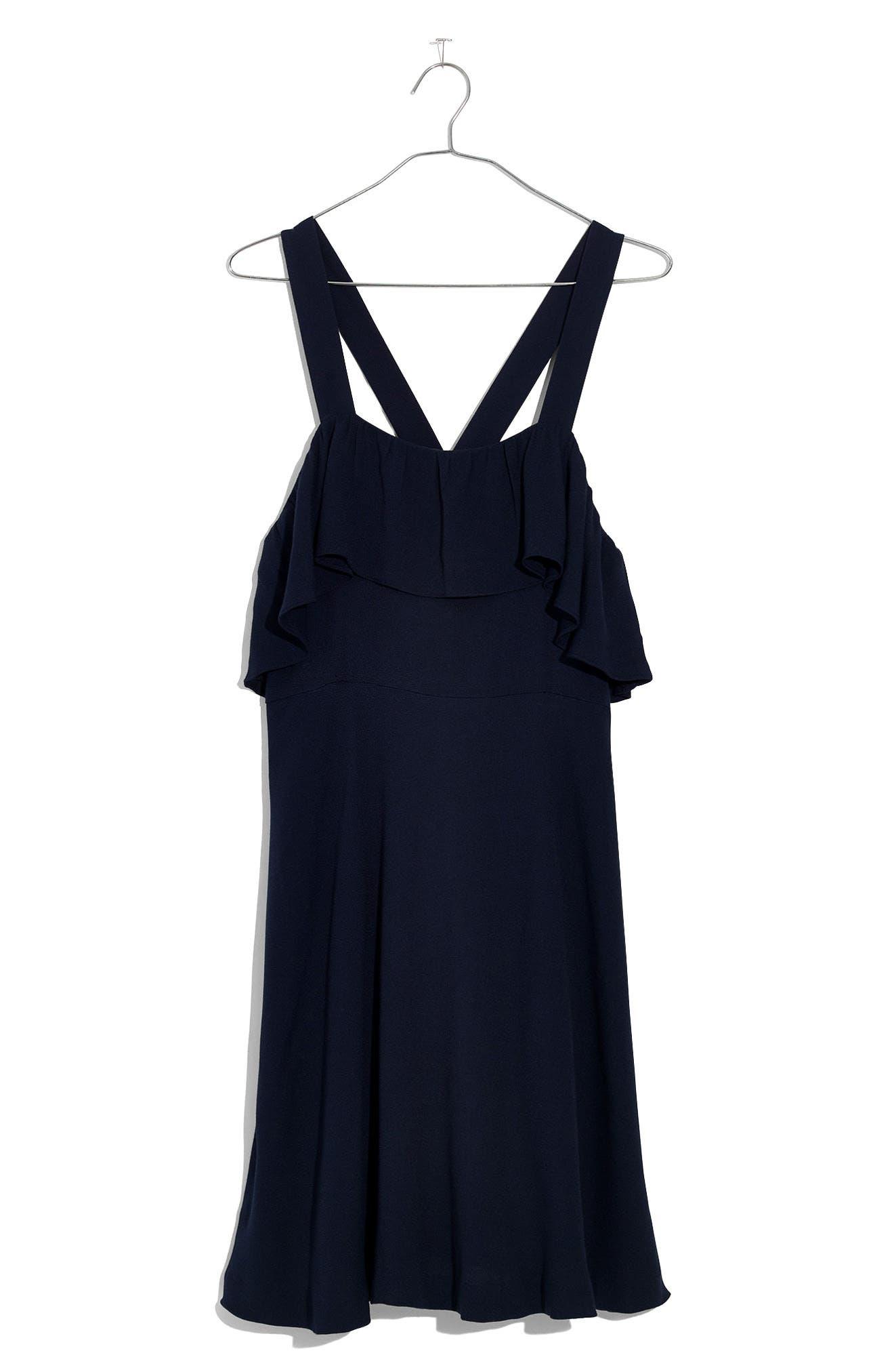 Apron Ruffle Dress,                             Alternate thumbnail 4, color,                             400