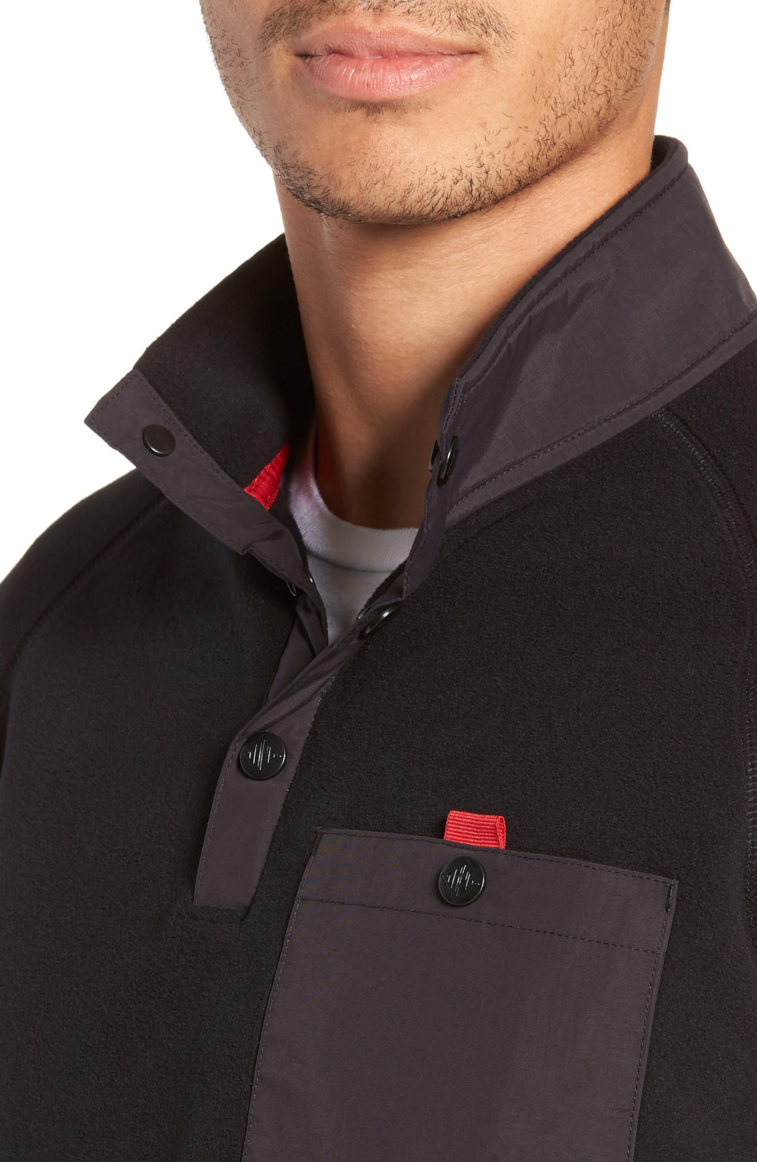 Mountain Fleece Pullover,                             Alternate thumbnail 4, color,                             BLACK