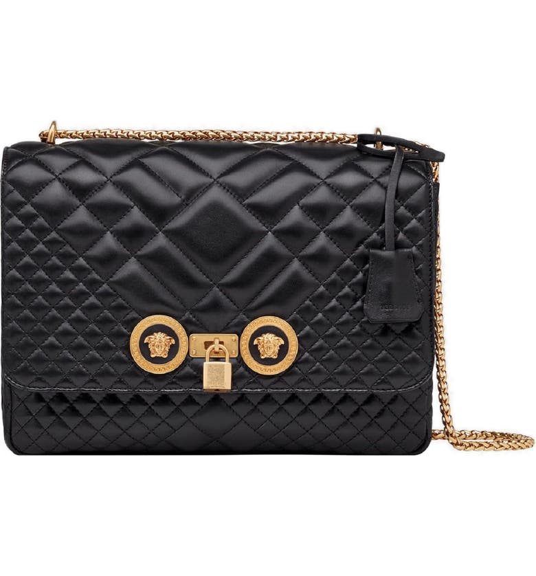 db2c61c6050e Versace Icon Quilted Leather Shoulder Bag