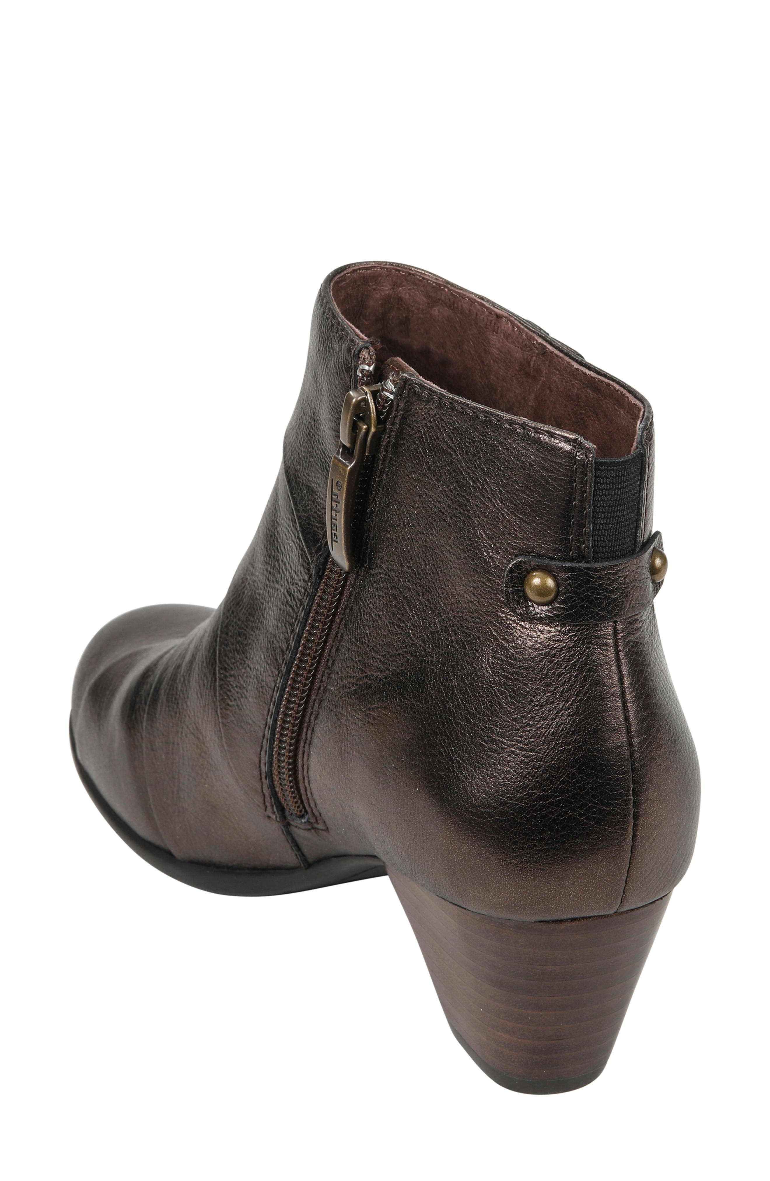 Hope Bootie,                             Alternate thumbnail 2, color,                             BRONZE LEATHER