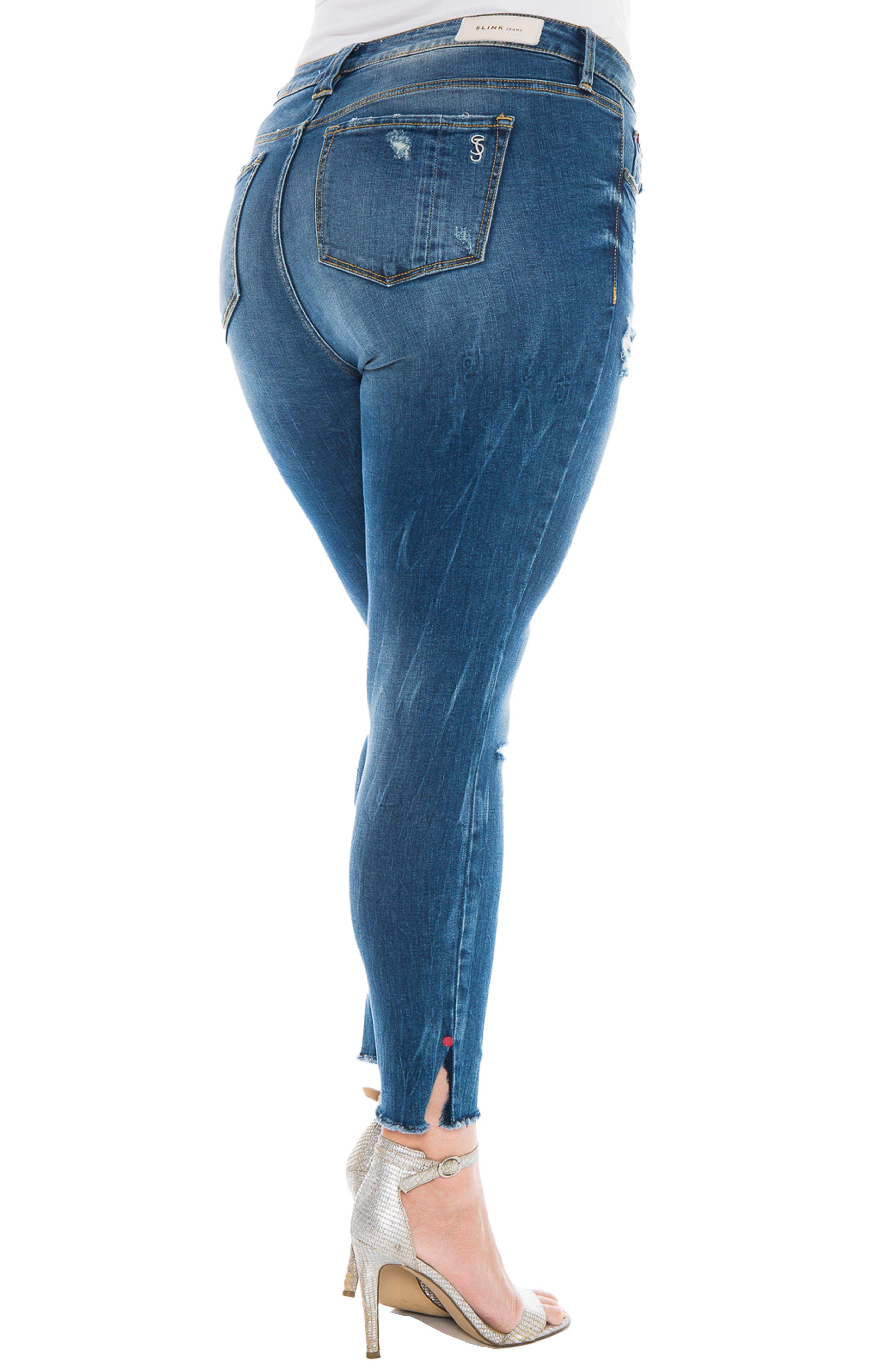 Raw Hem Skinny Jeans,                             Alternate thumbnail 2, color,                             055