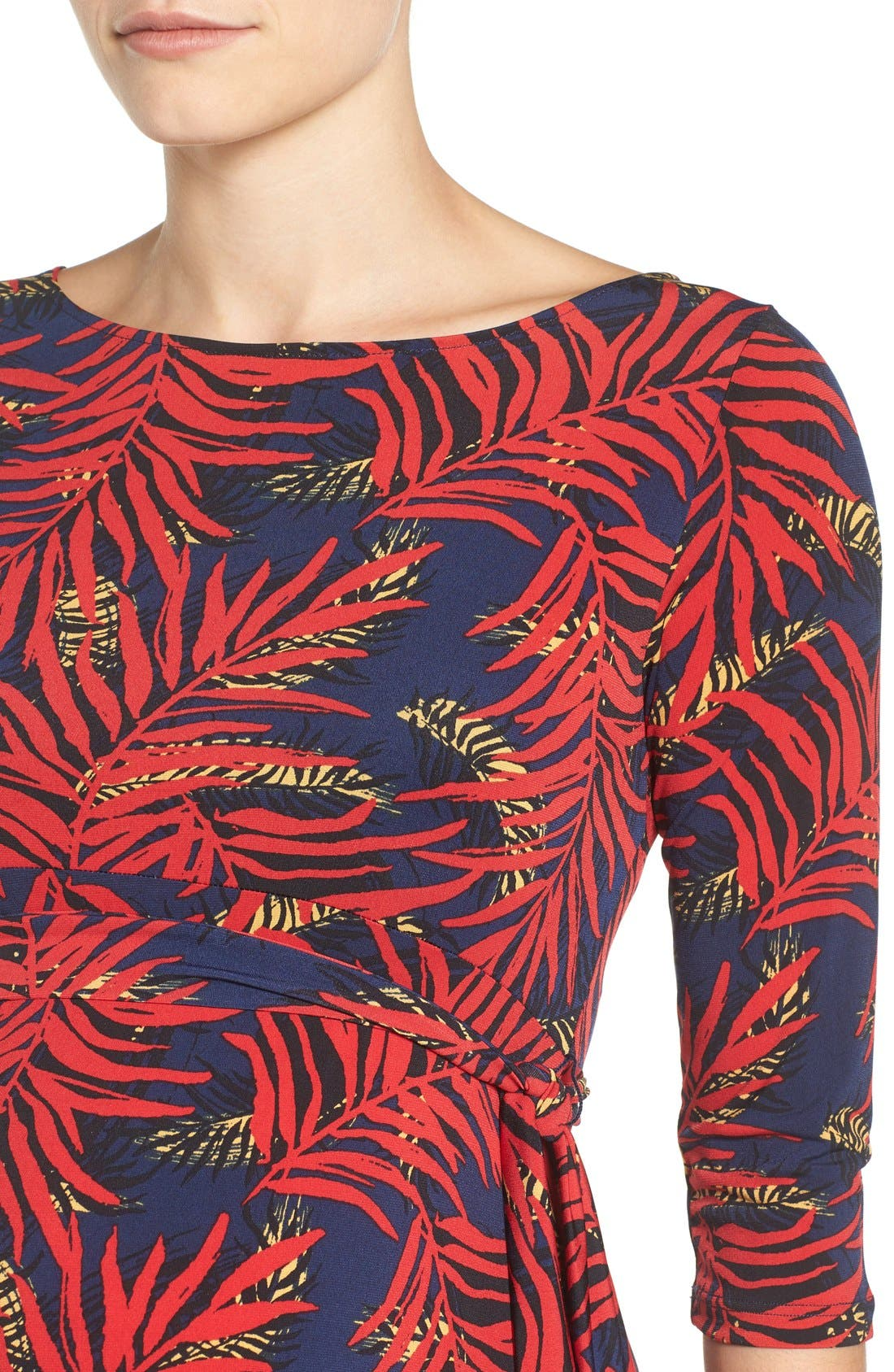 Ilana Maternity Dress,                             Alternate thumbnail 4, color,                             PALM