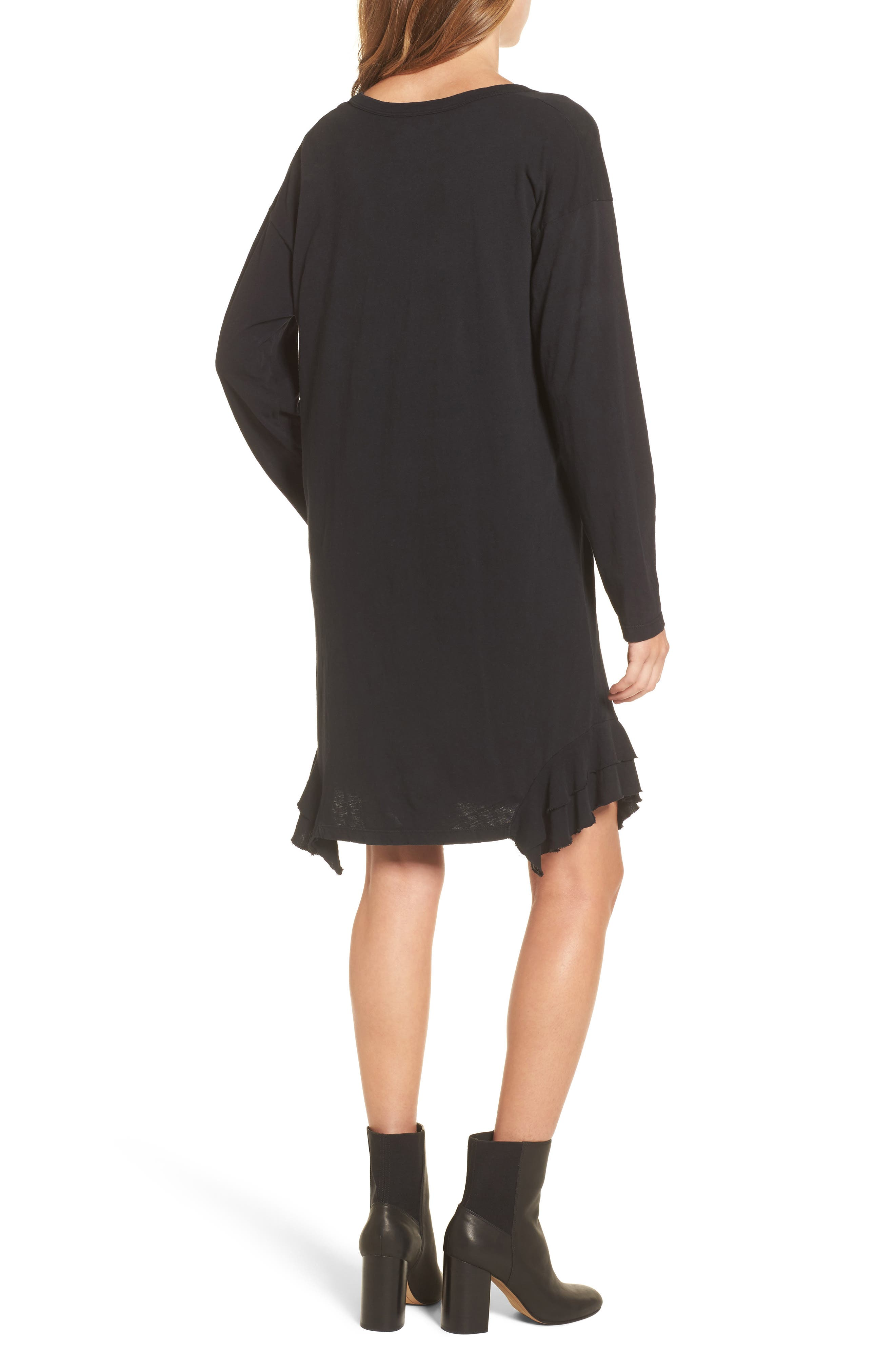 The Tier Long Sleeve Dress,                             Alternate thumbnail 2, color,                             008