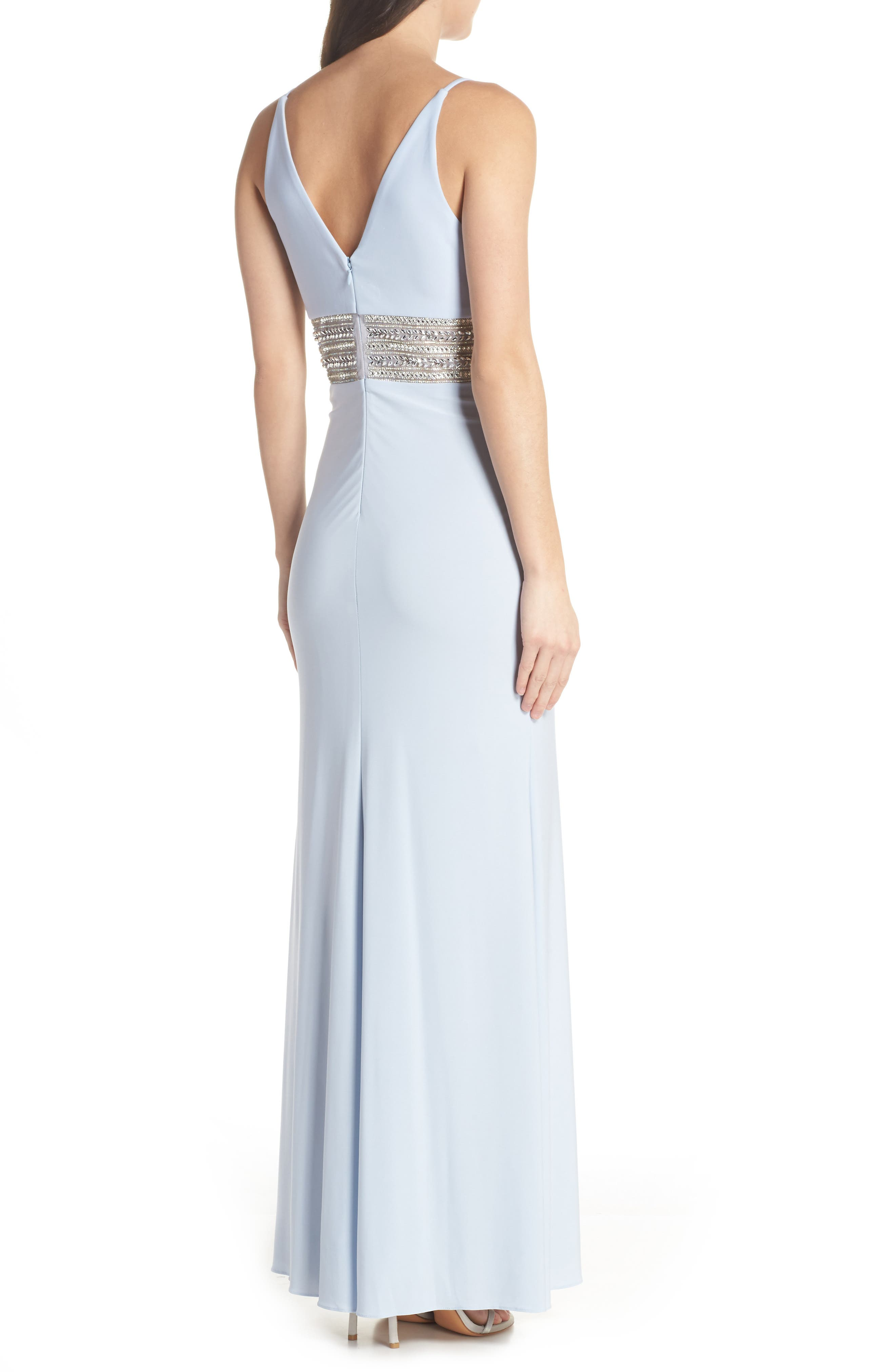 Beaded Waist Gown,                             Alternate thumbnail 2, color,                             450