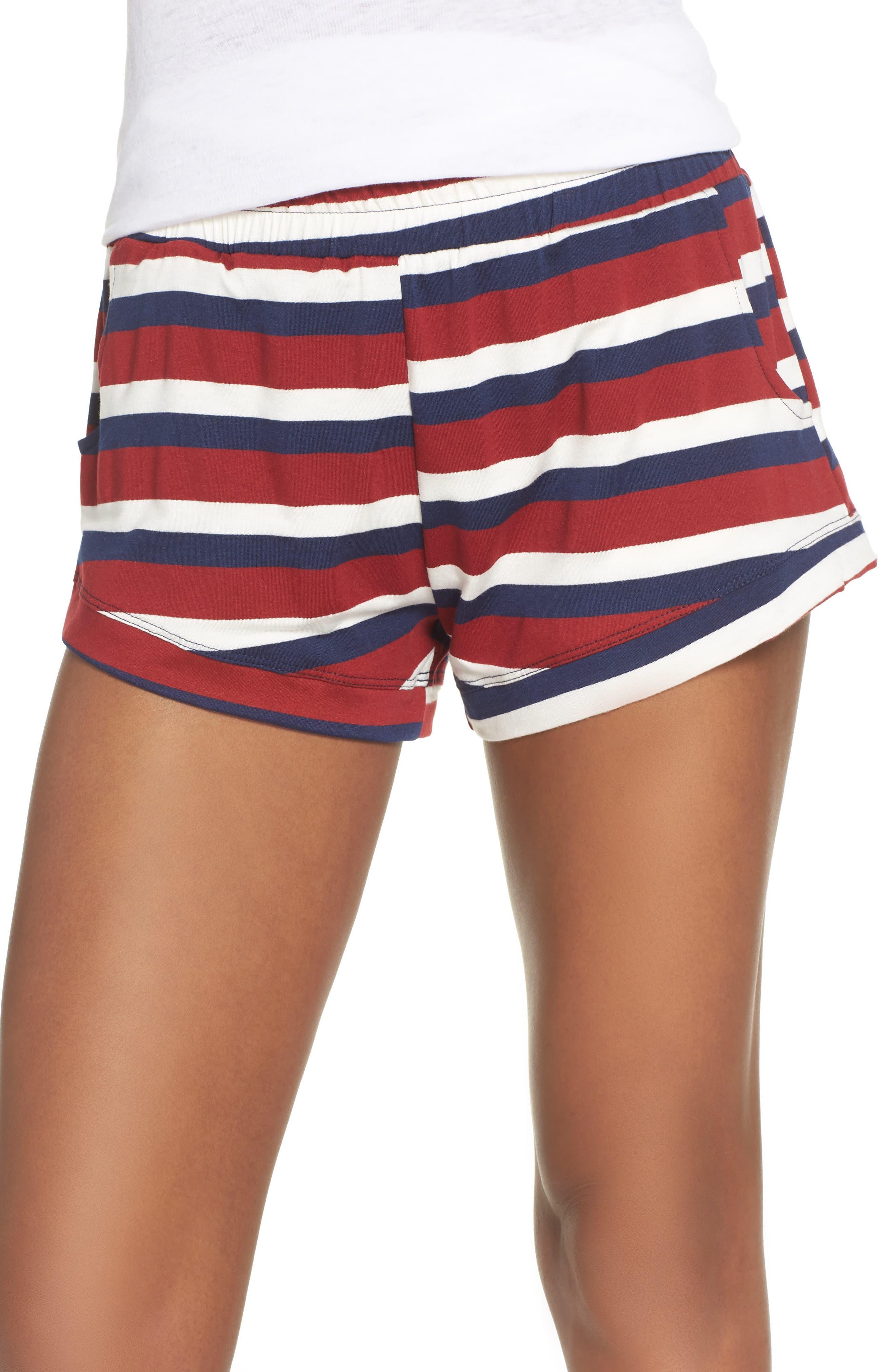 Elody Shorts,                         Main,                         color, BRICK STRIPE