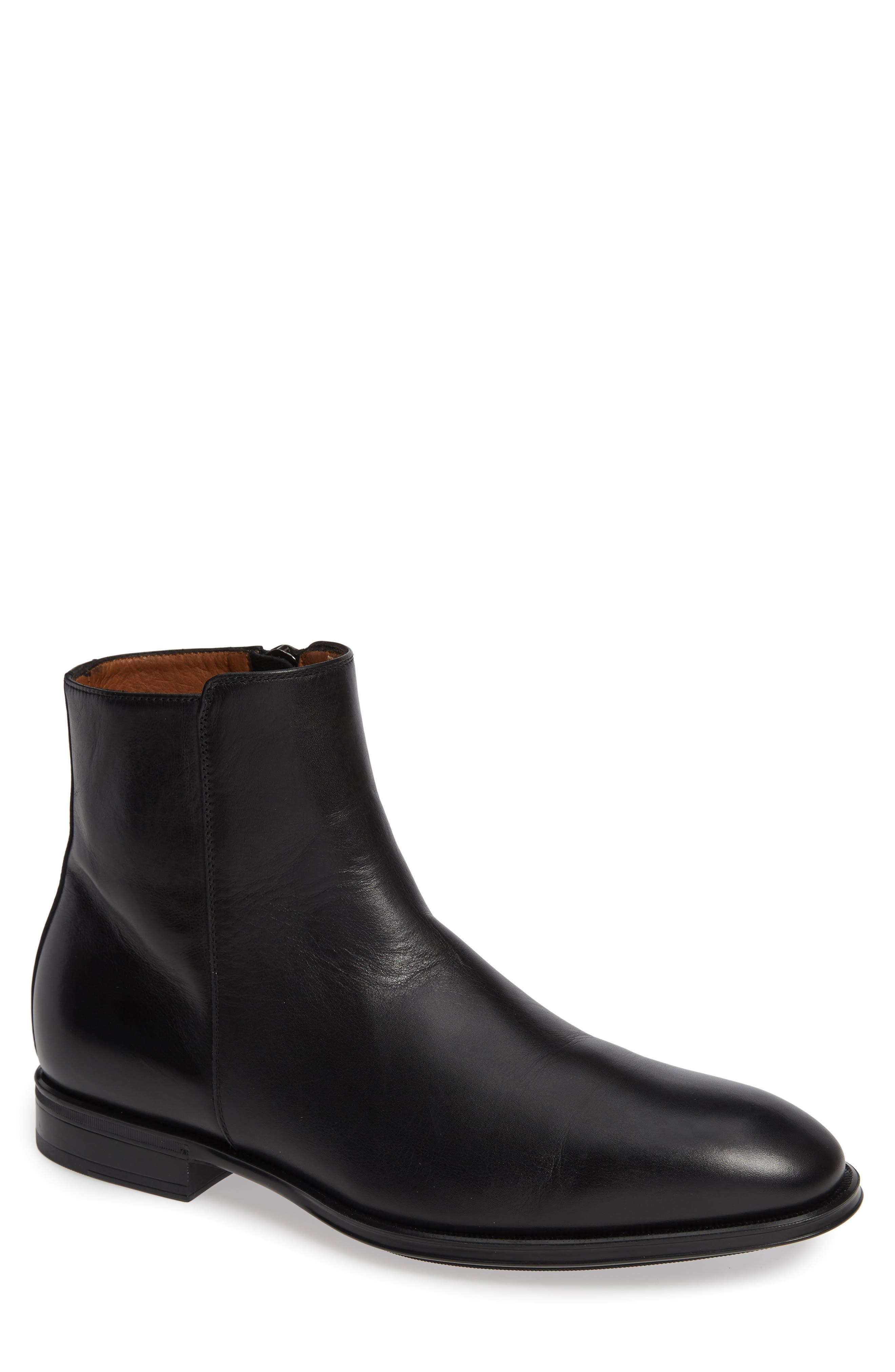 Aquatalia Daniel Water Resistant Zip Boot, Black