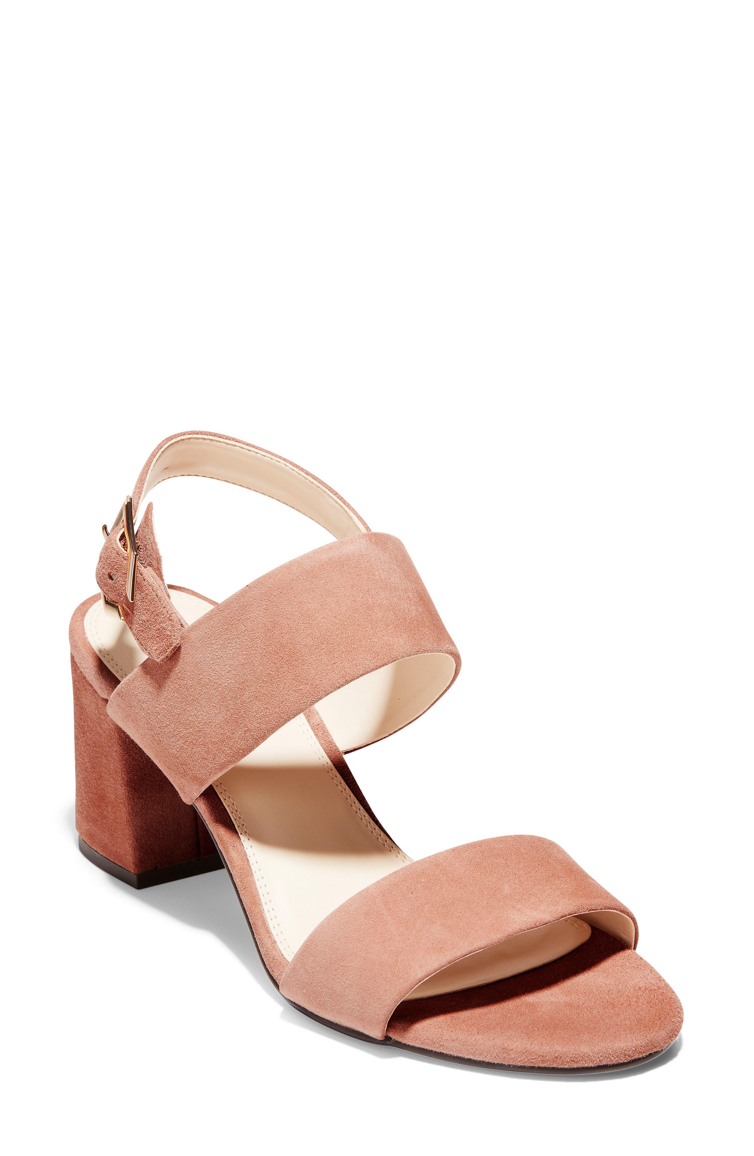 Avani Block Heel Sandal, Main, color, MOCHA MOUSSE SUEDE