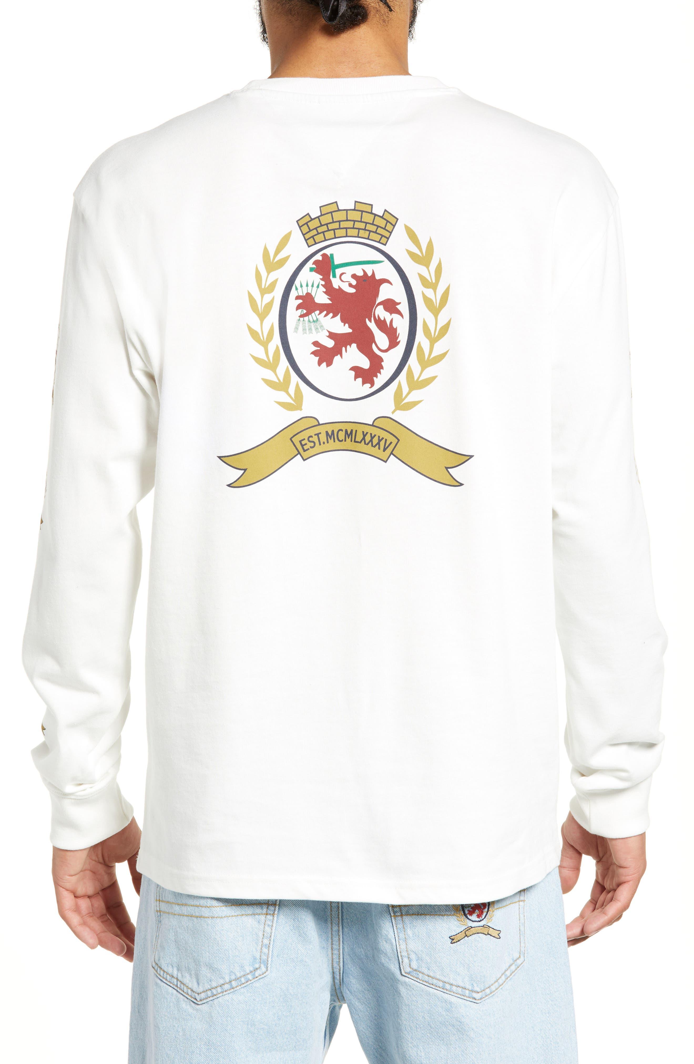 Crest Logo Long Sleeve T-Shirt,                             Alternate thumbnail 2, color,                             CLOUD DANCER