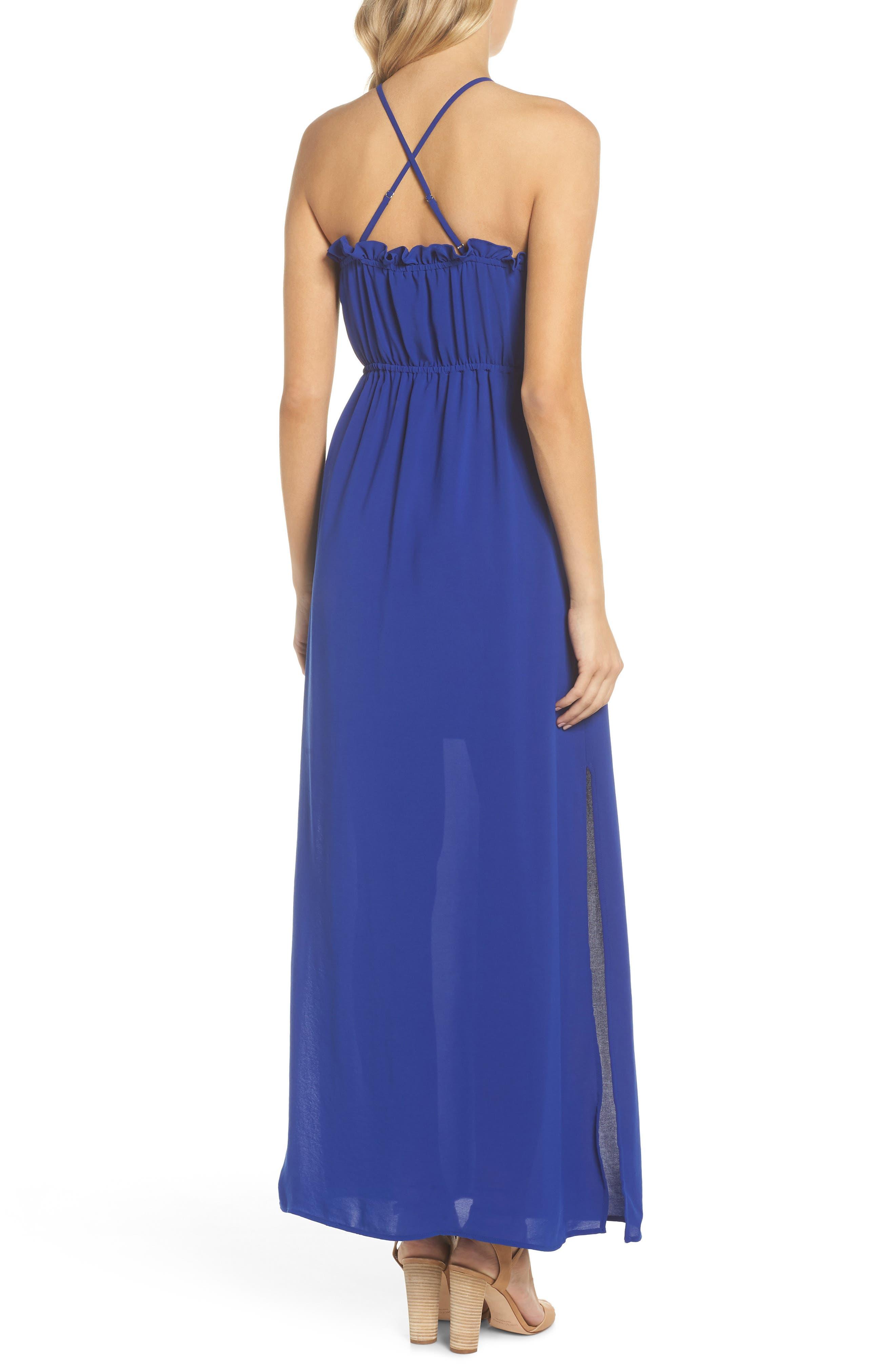 Crepe Blouson Maxi Dress,                             Alternate thumbnail 2, color,                             414