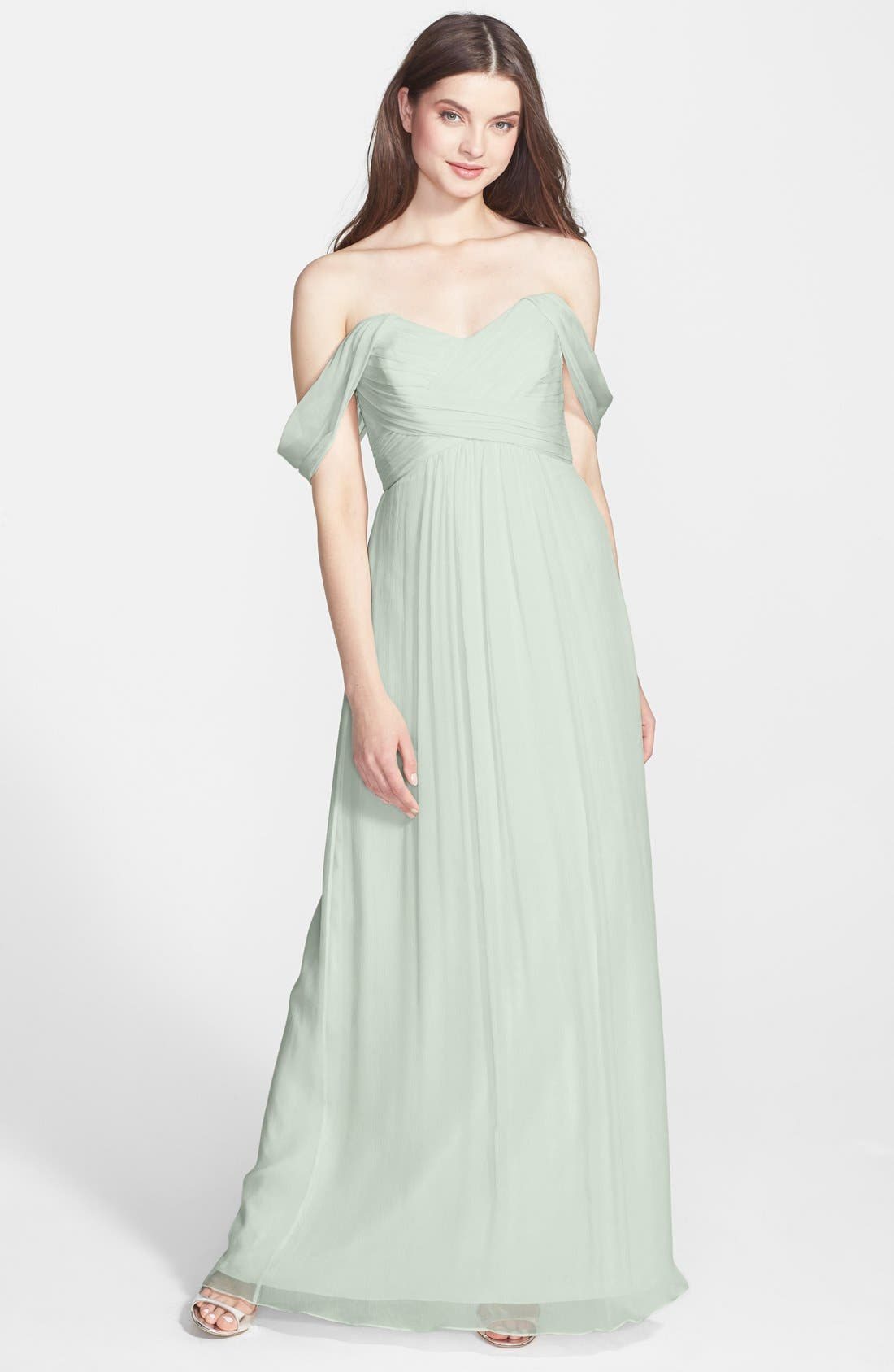 Convertible Crinkled Silk Chiffon Gown,                             Main thumbnail 7, color,