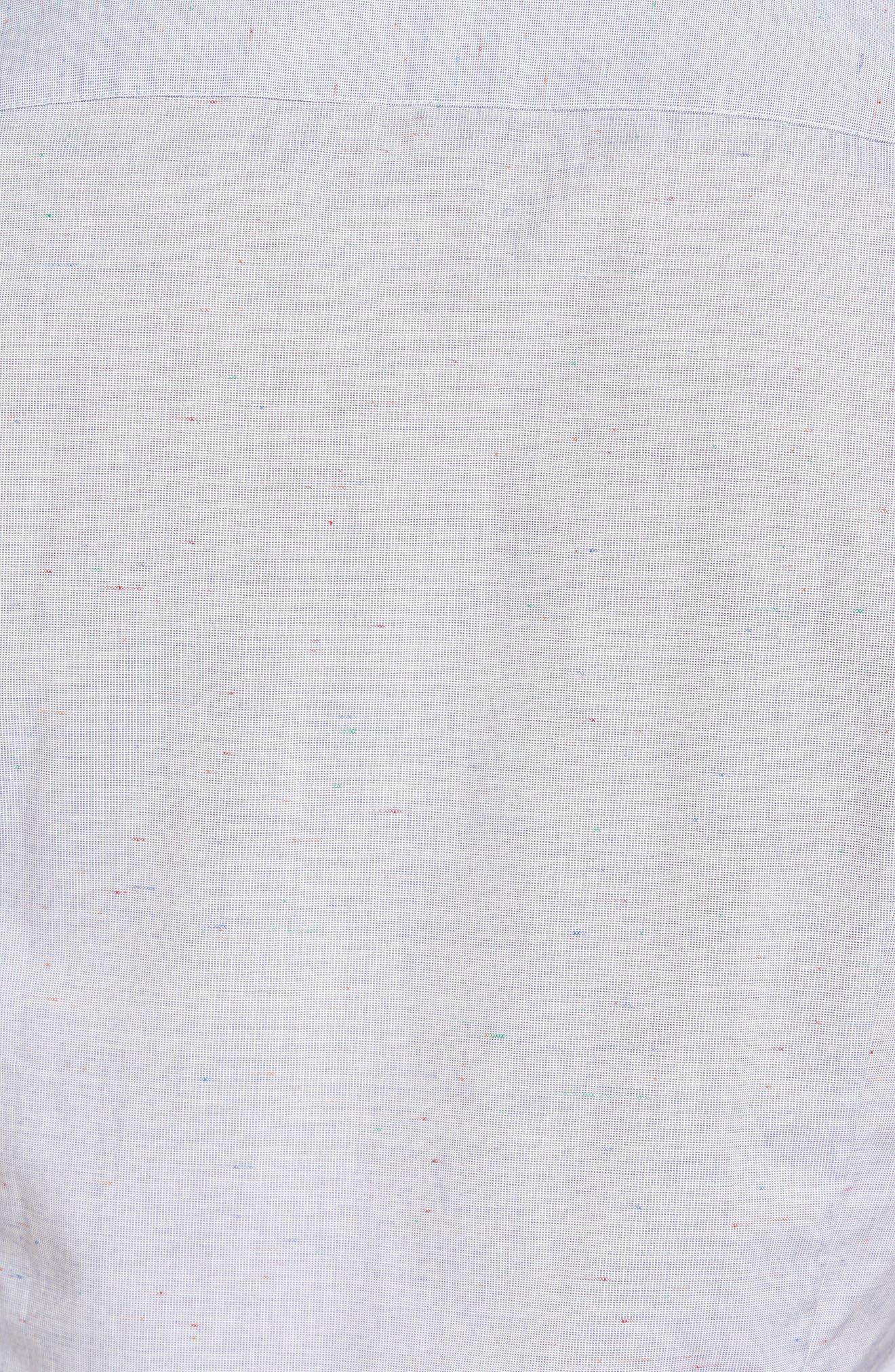 Beya Slim Fit Nepped Woven Shirt,                             Alternate thumbnail 5, color,                             421