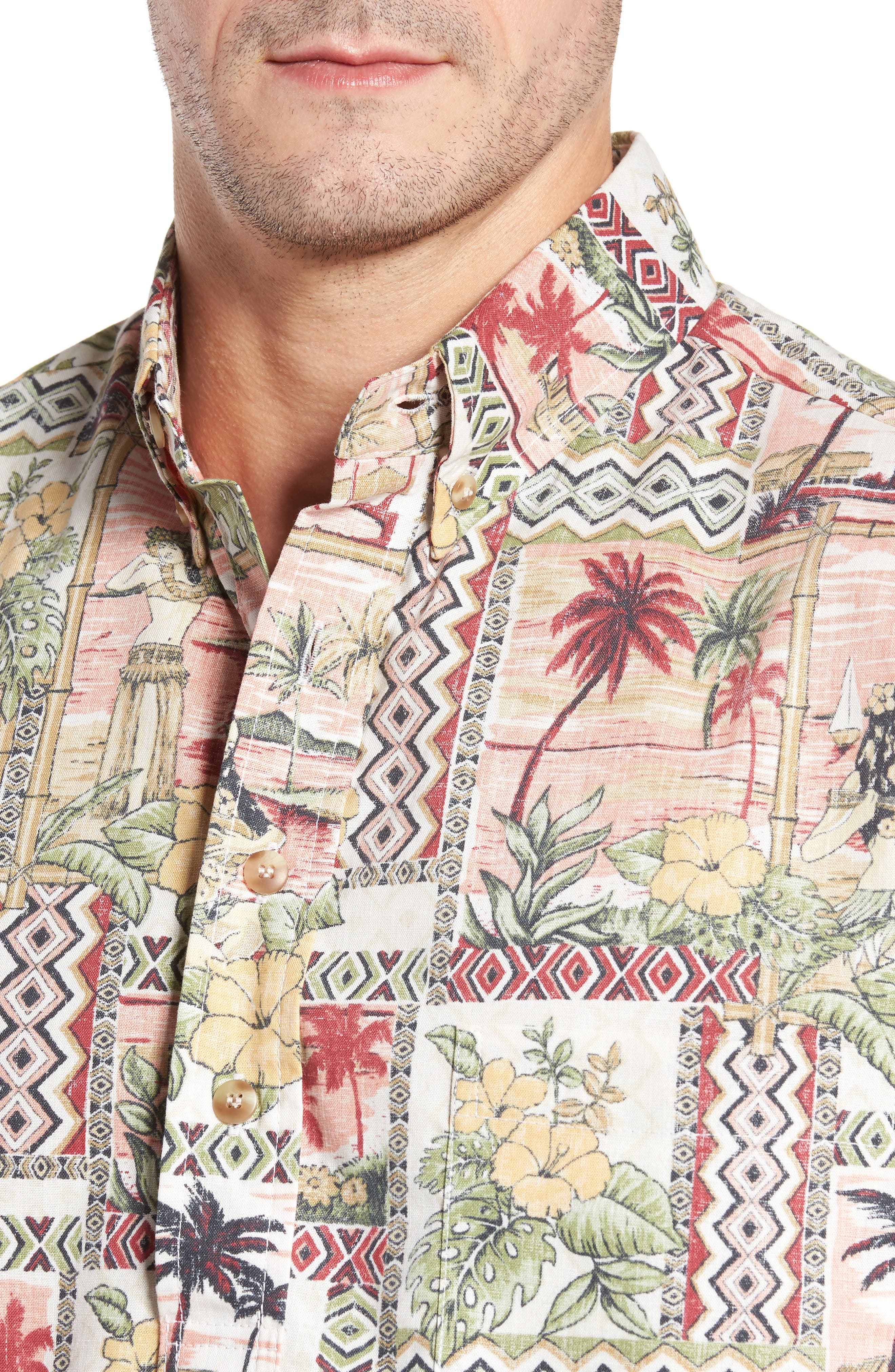 Aloha Classic Fit Pullover Camp Shirt,                             Alternate thumbnail 4, color,                             605