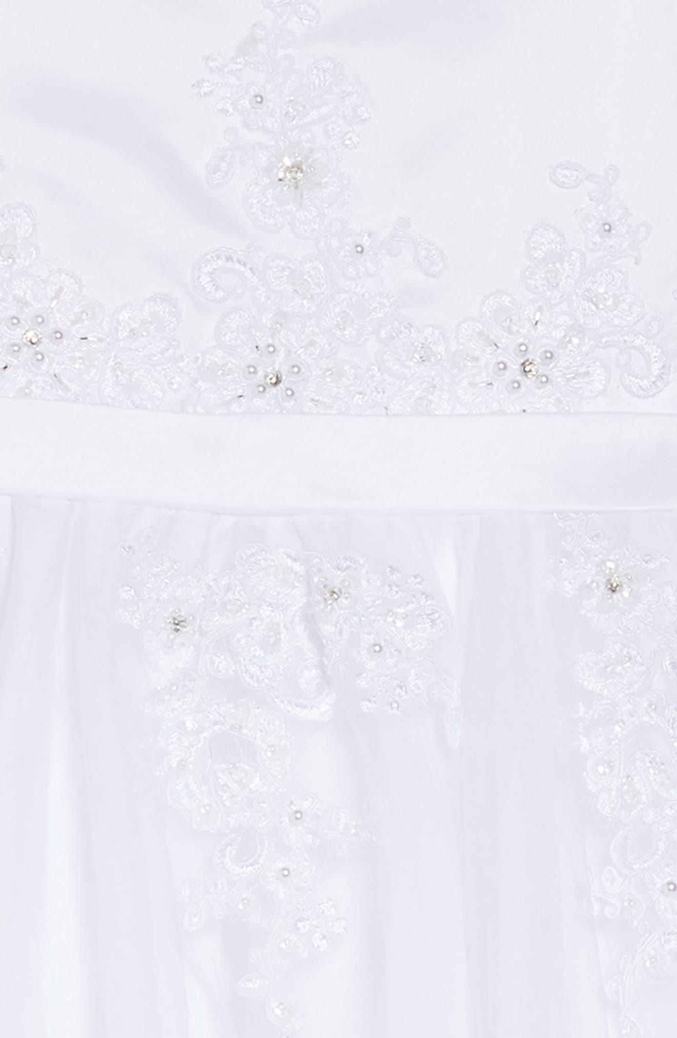 LAUREN MARIE,                             Beaded Lace First Communion Dress,                             Alternate thumbnail 5, color,                             WHITE