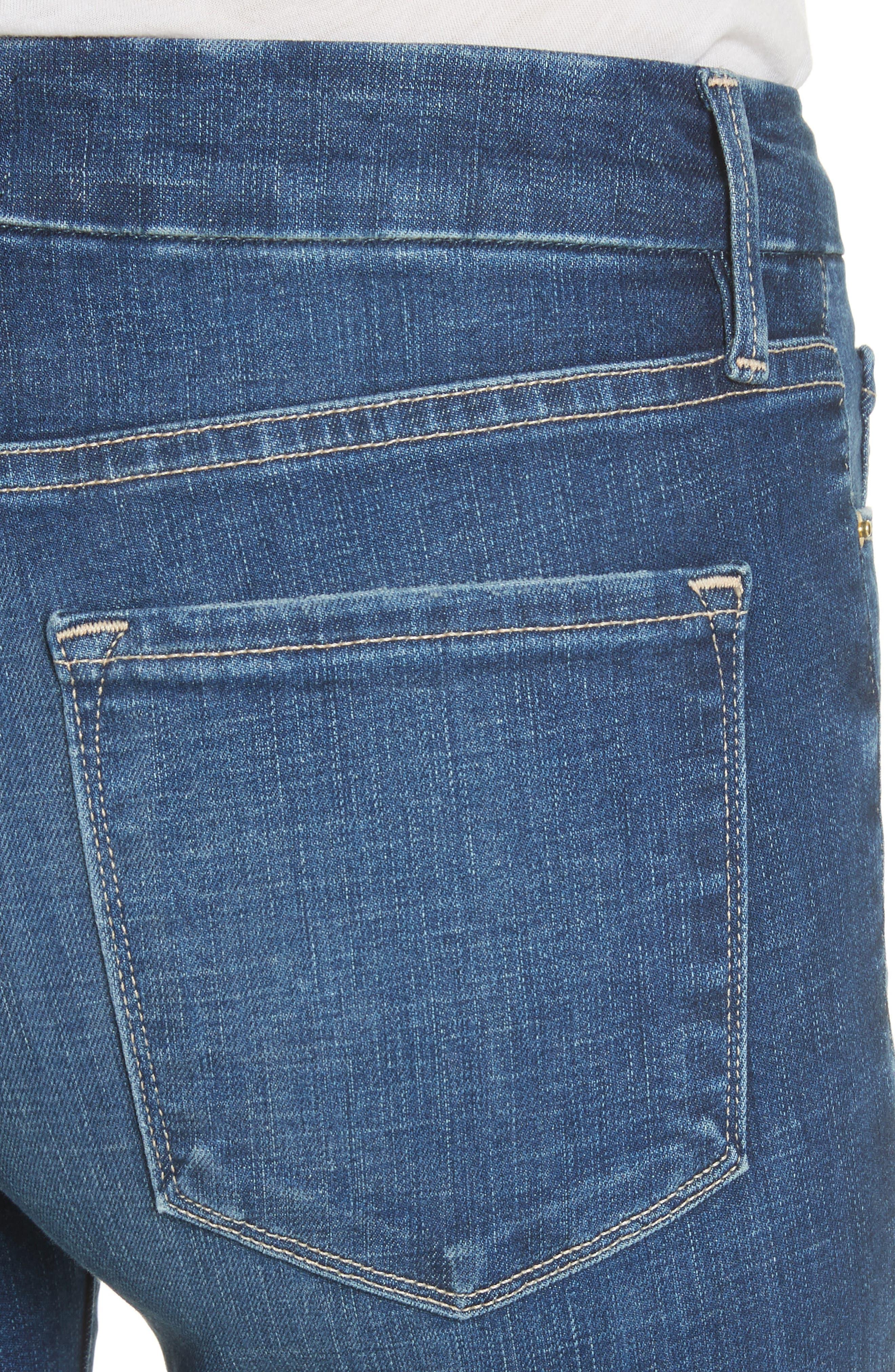 Le Crop Mini Boot Jeans,                             Alternate thumbnail 4, color,                             401