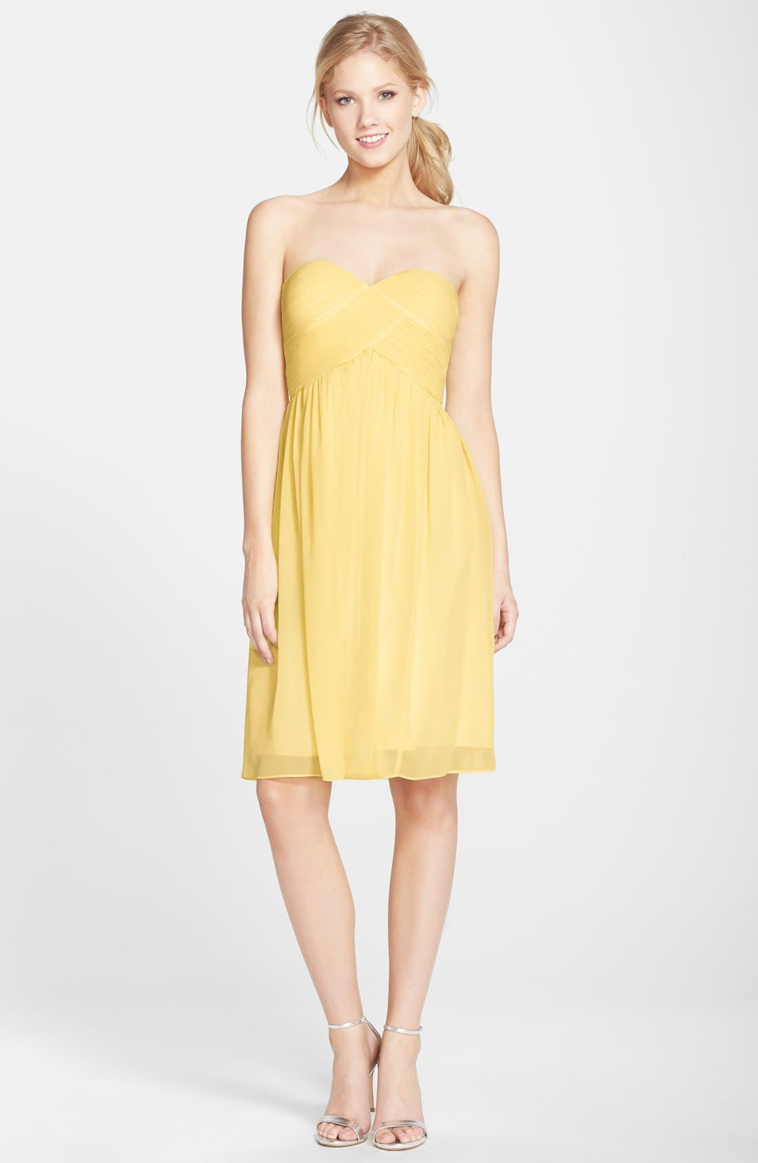 'Morgan' Strapless Silk Chiffon Dress,                             Alternate thumbnail 72, color,