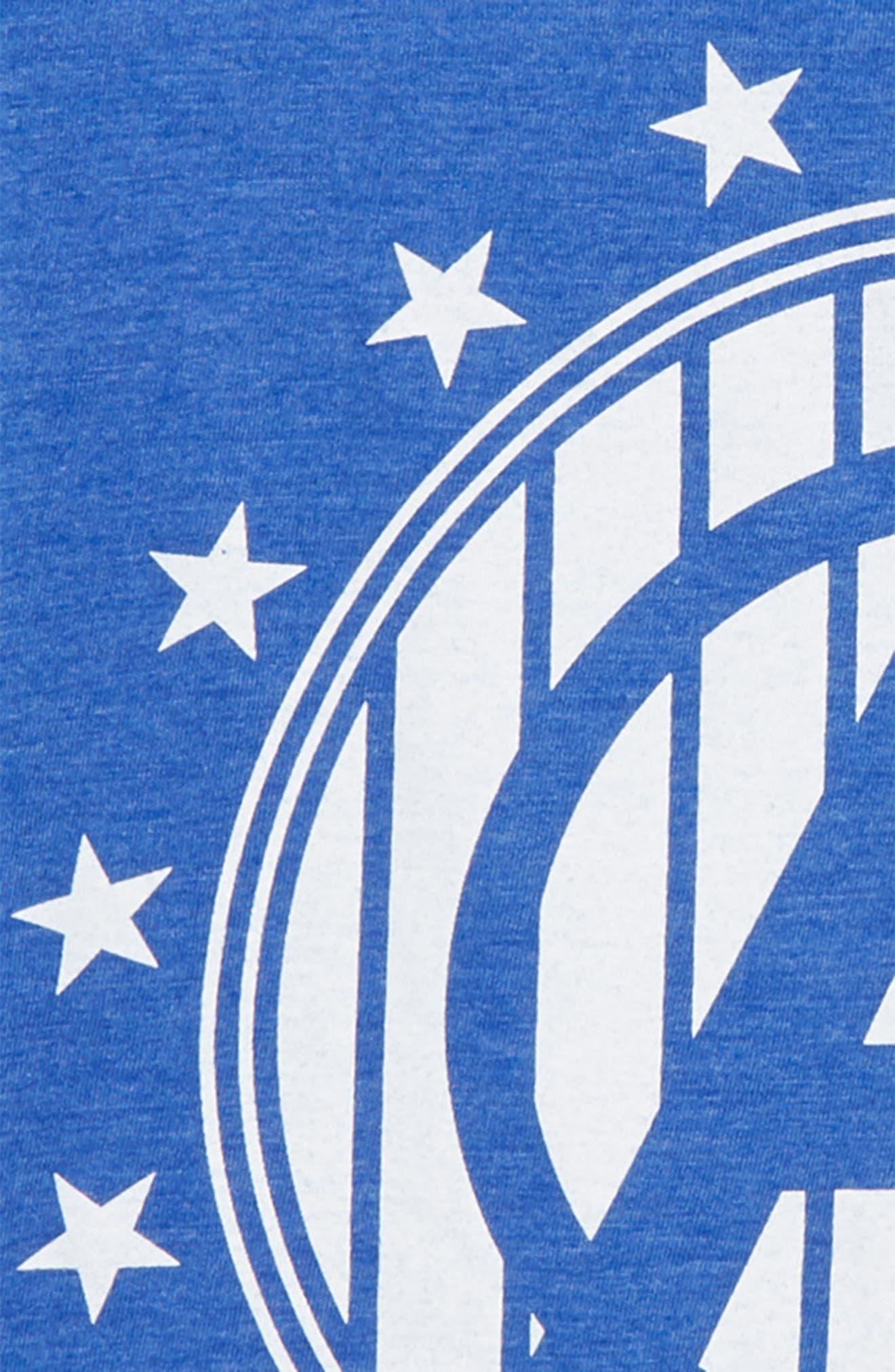 x Marvel Avengers Stripe Logo T-Shirt,                             Alternate thumbnail 2, color,