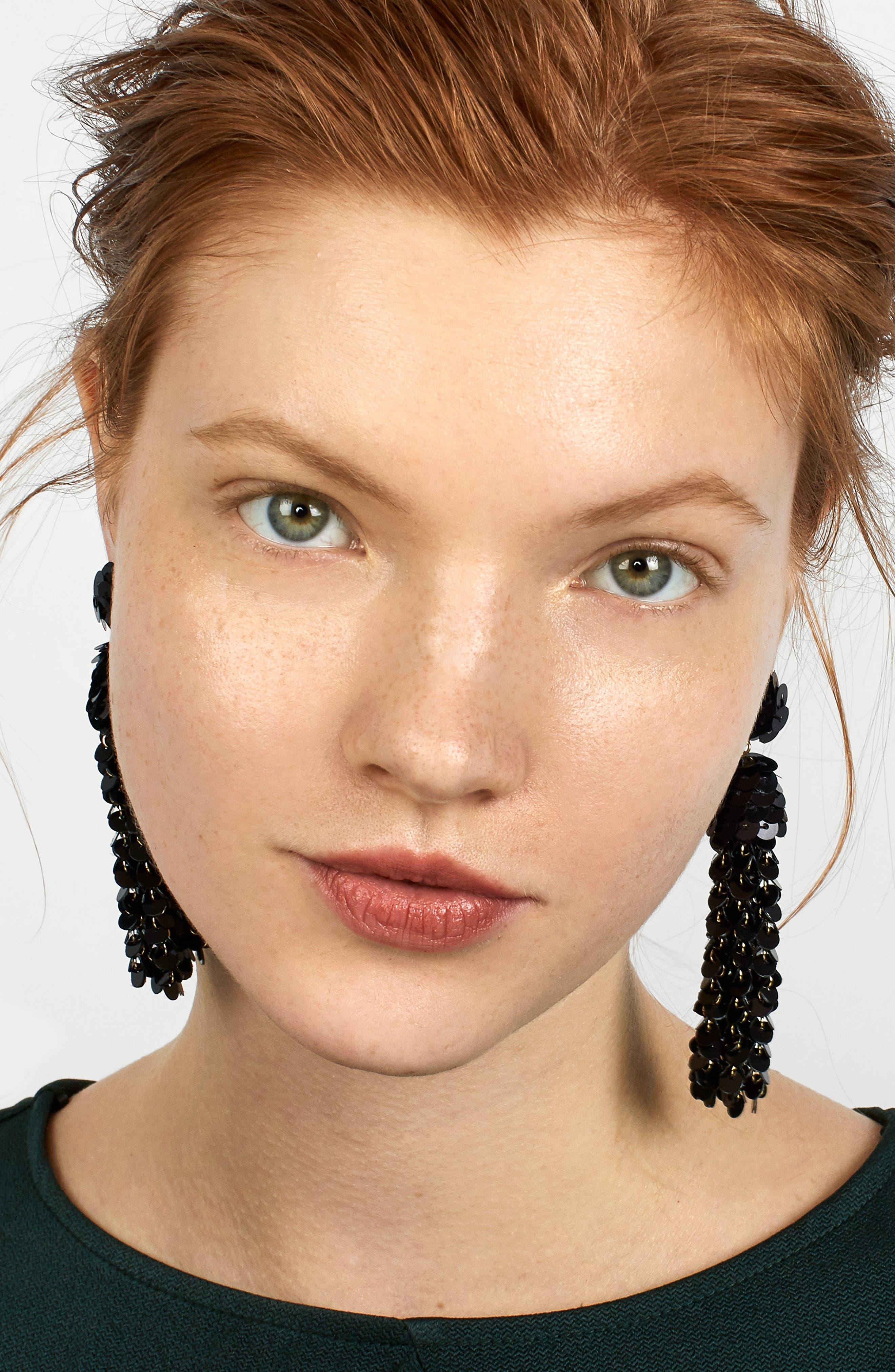 Sequin Pinata Tassel Earrings,                             Alternate thumbnail 2, color,                             001