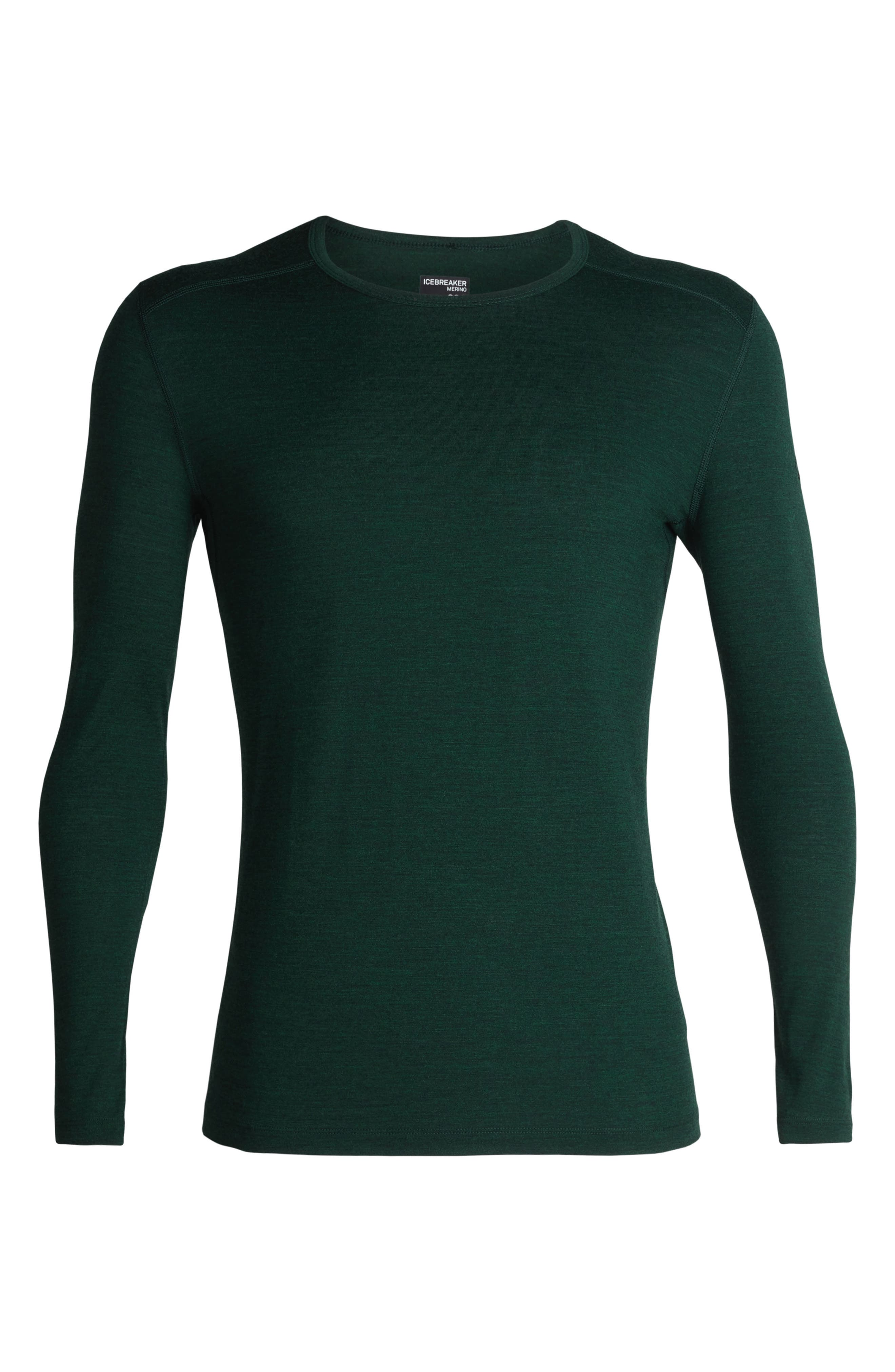 Oasis Slim Merino Wool T-Shirt,                             Alternate thumbnail 6, color,                             IMPERIAL HEATHER