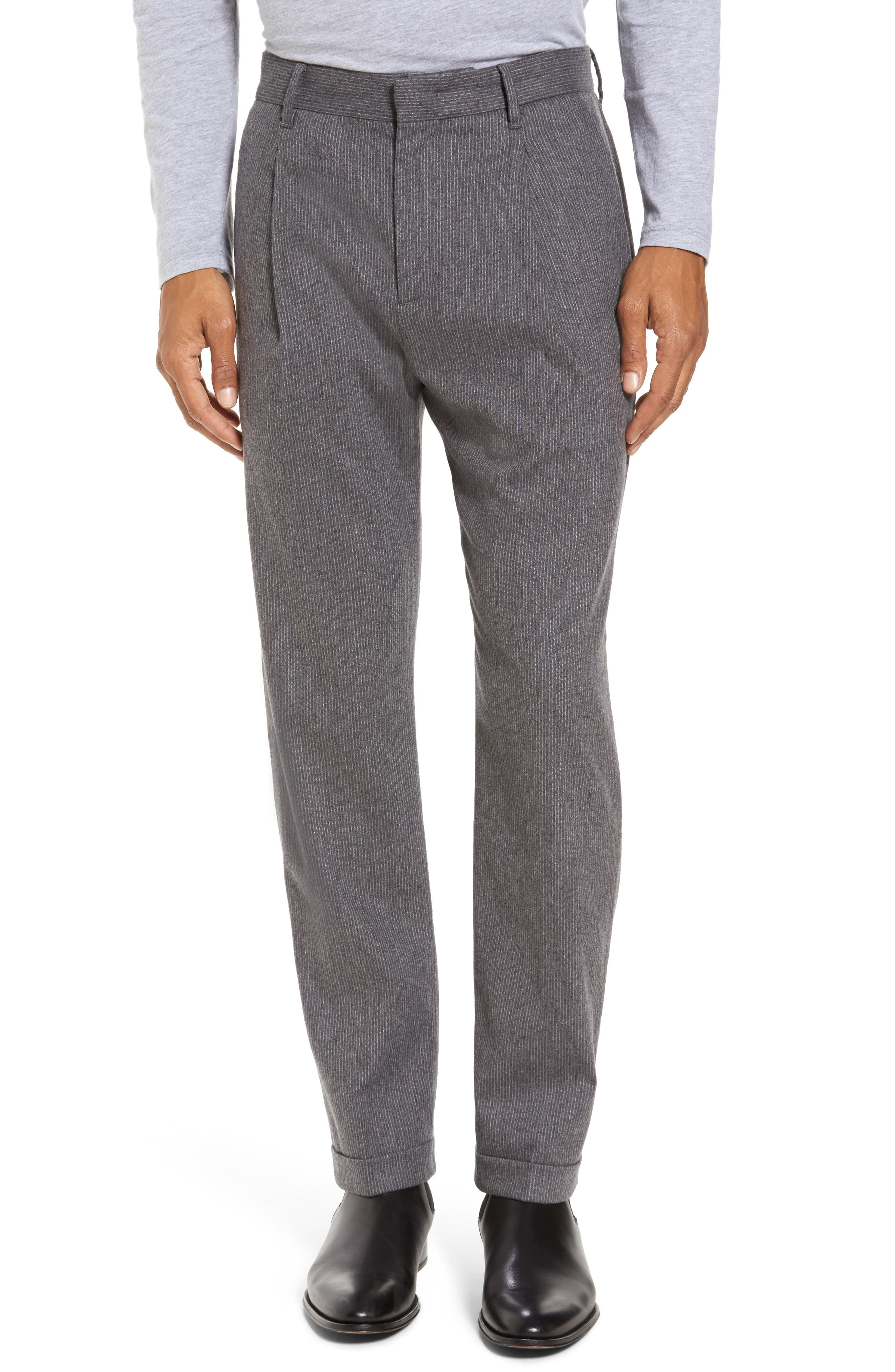 Rushmore Pinstripe Stretch Wool Blend Trousers,                         Main,                         color, 020