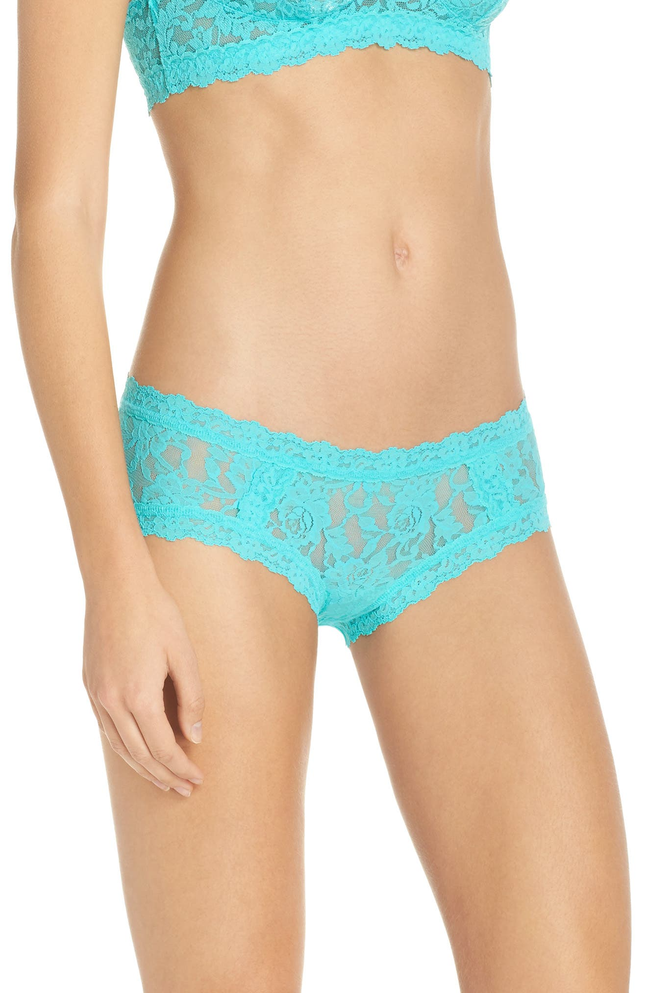 Floral Stretch Lace Girlkini,                             Alternate thumbnail 9, color,
