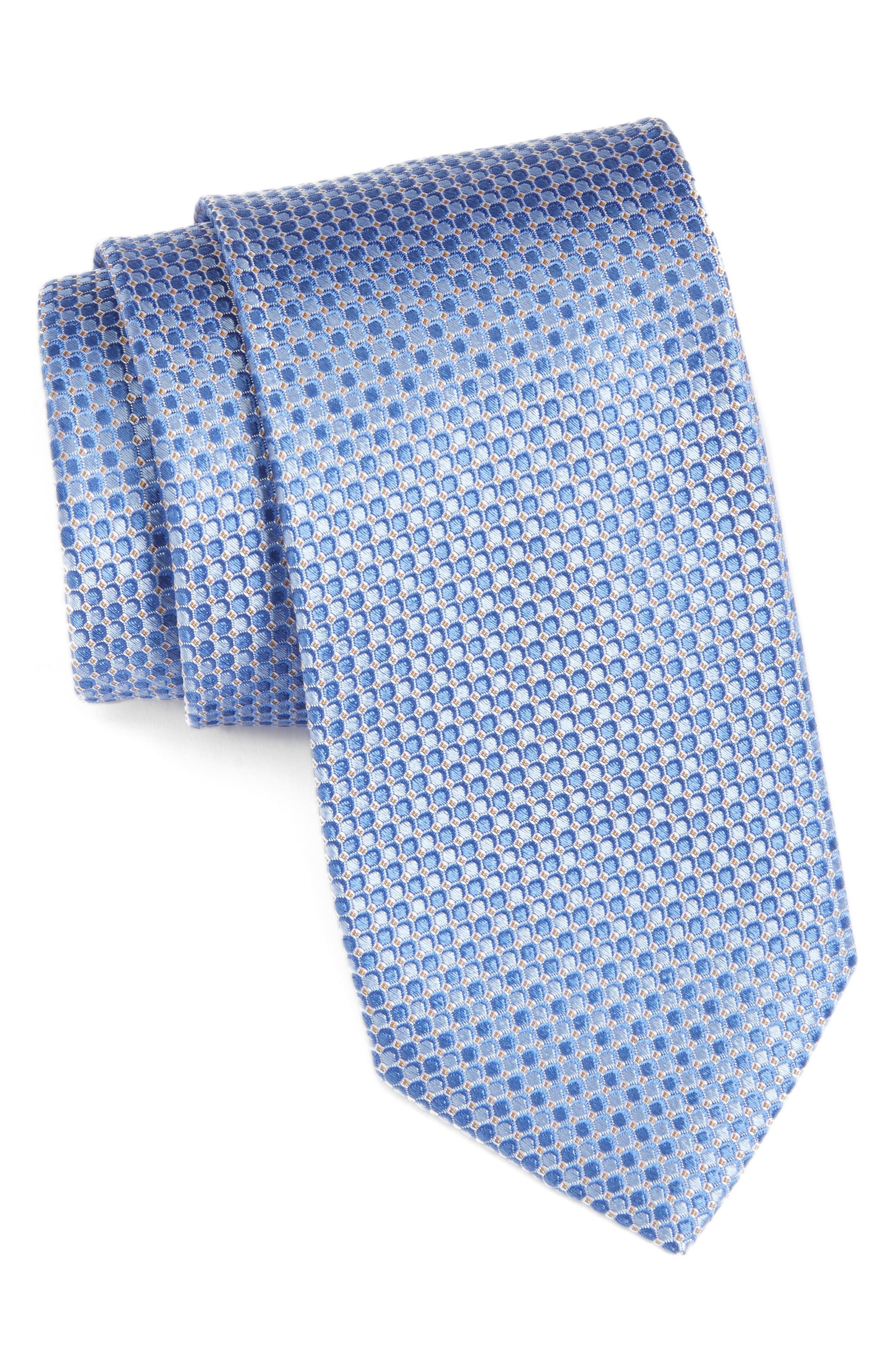 Alghero Micro Silk Tie,                         Main,                         color, 455