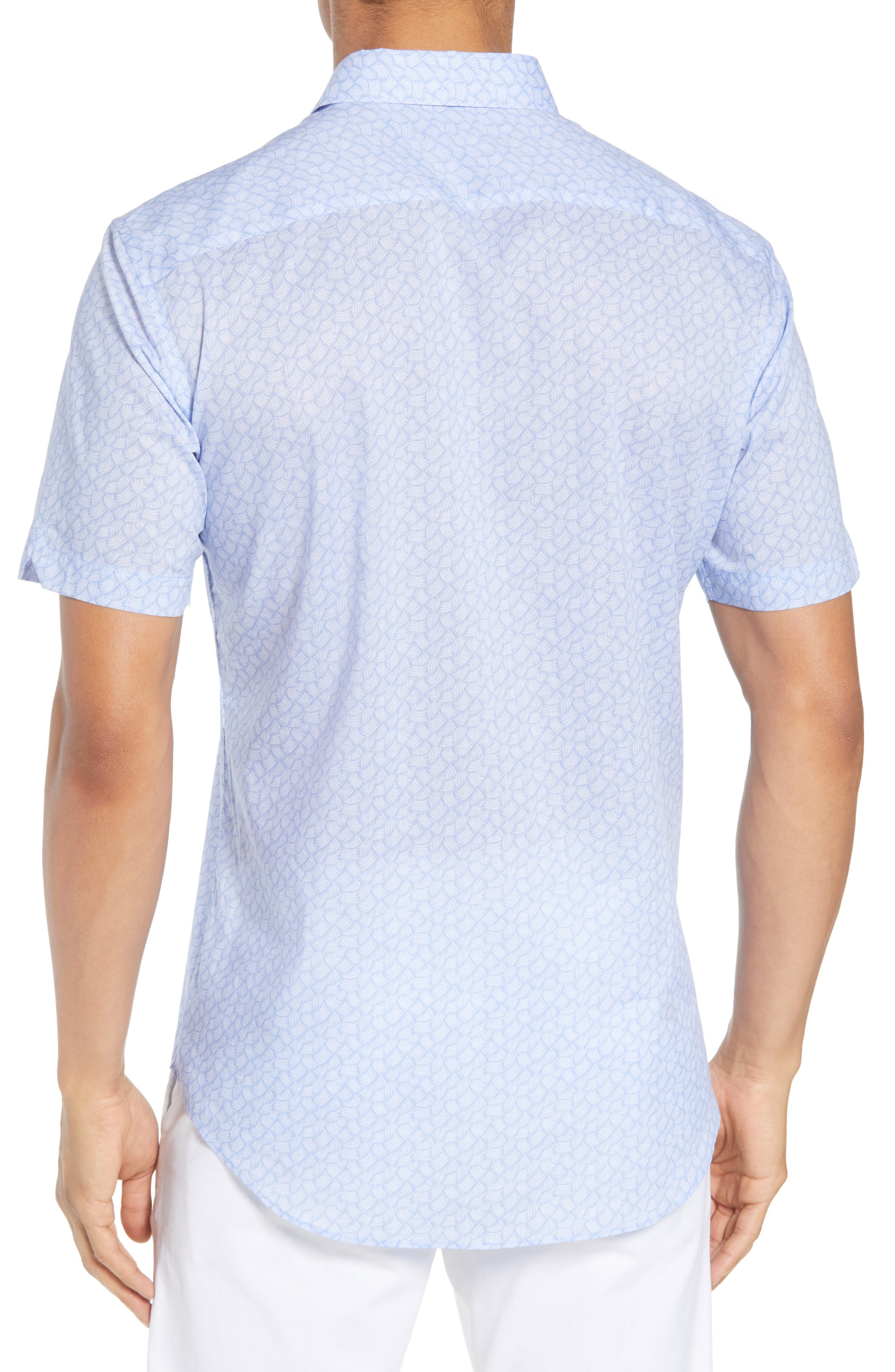 Garrett Trim Fit Sport Shirt,                             Alternate thumbnail 2, color,                             BLUE