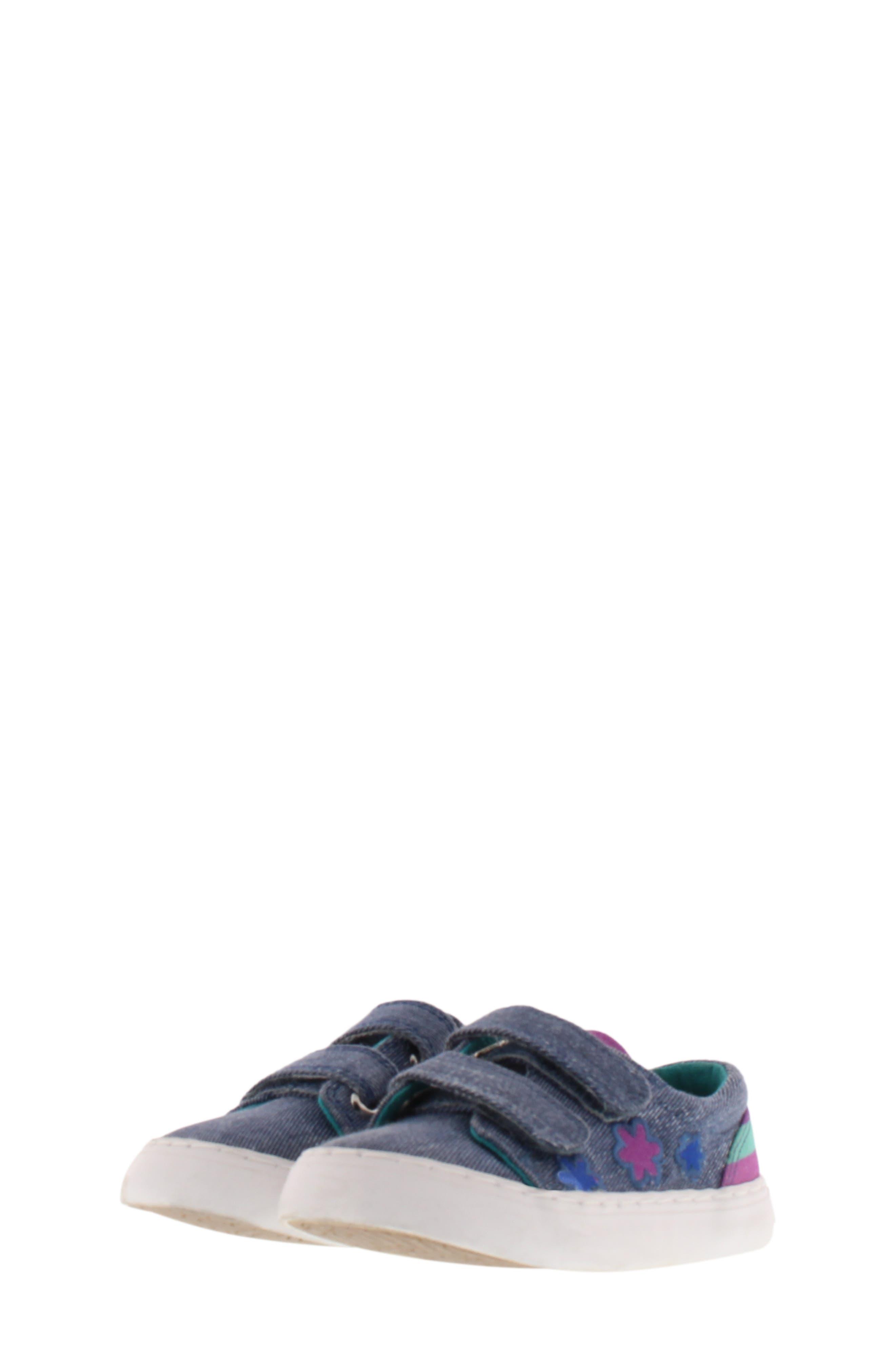 Move Flower Appliqué Sneaker, Main, color, DENIM
