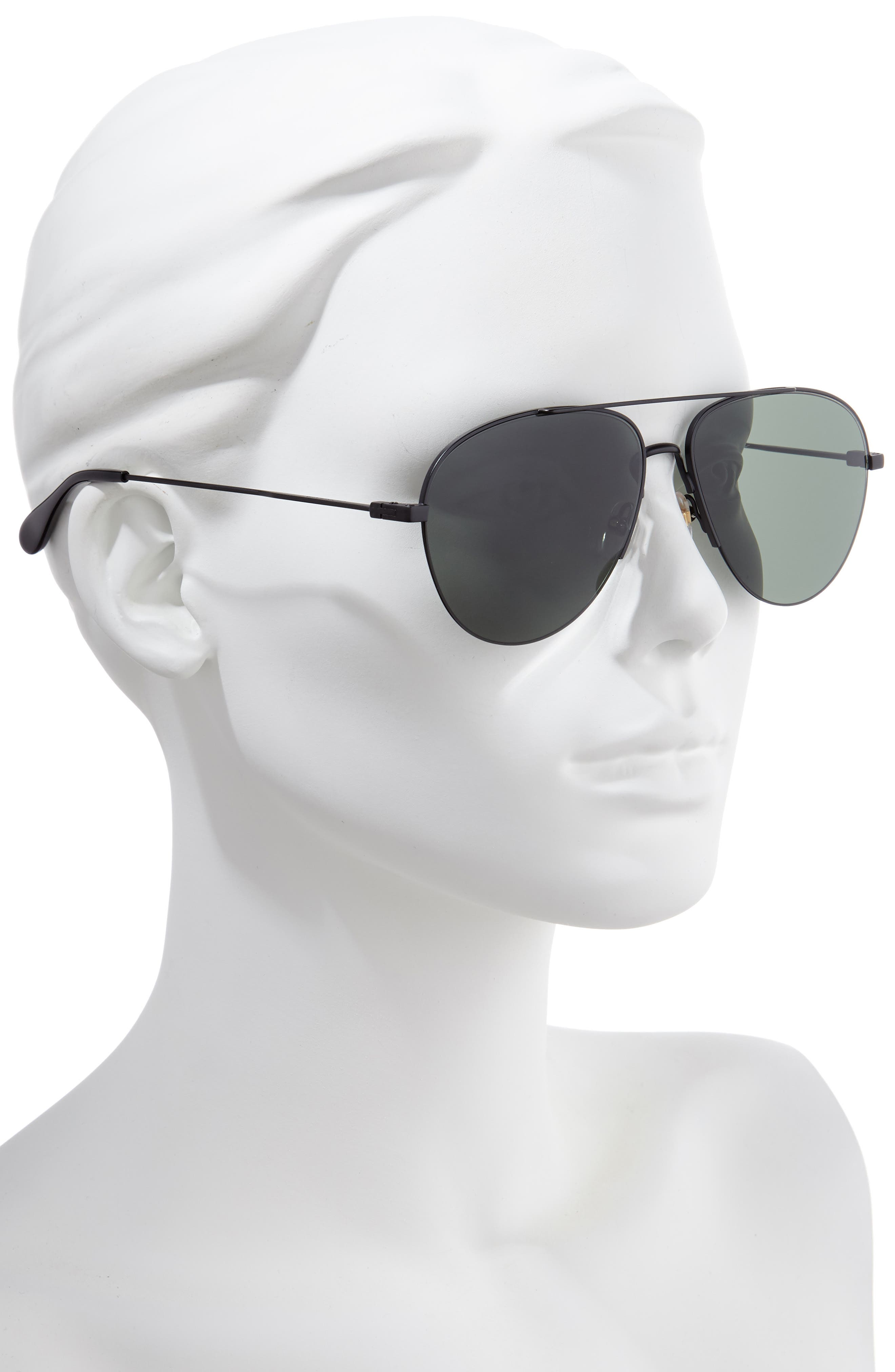 GIVENCHY,                             61mm Aviator Sunglasses,                             Alternate thumbnail 2, color,                             MATTE BLACK