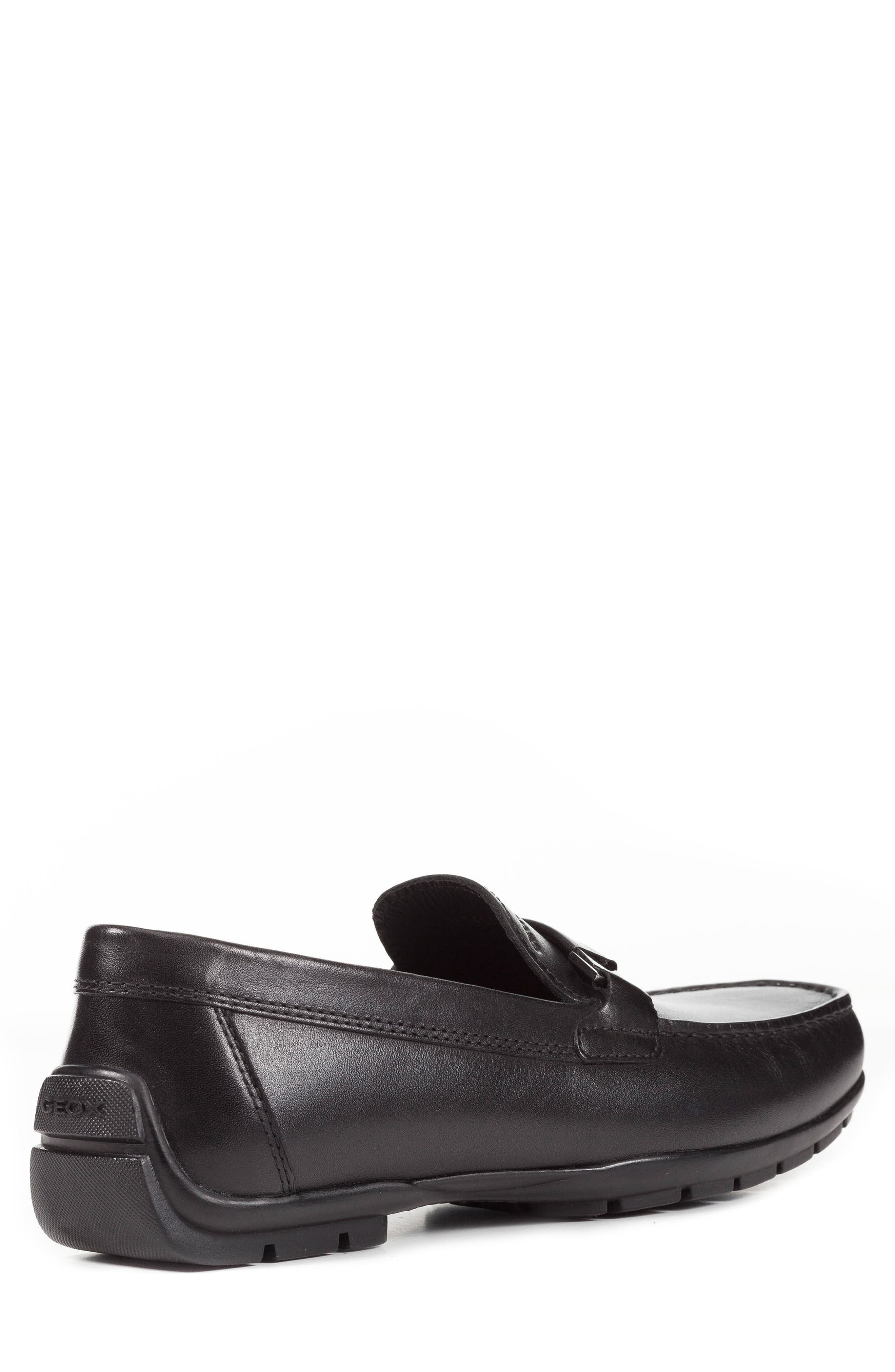 GEOX,                             Moner 2Fit 1 Driving Moccasin,                             Alternate thumbnail 2, color,                             BLACK LEATHER