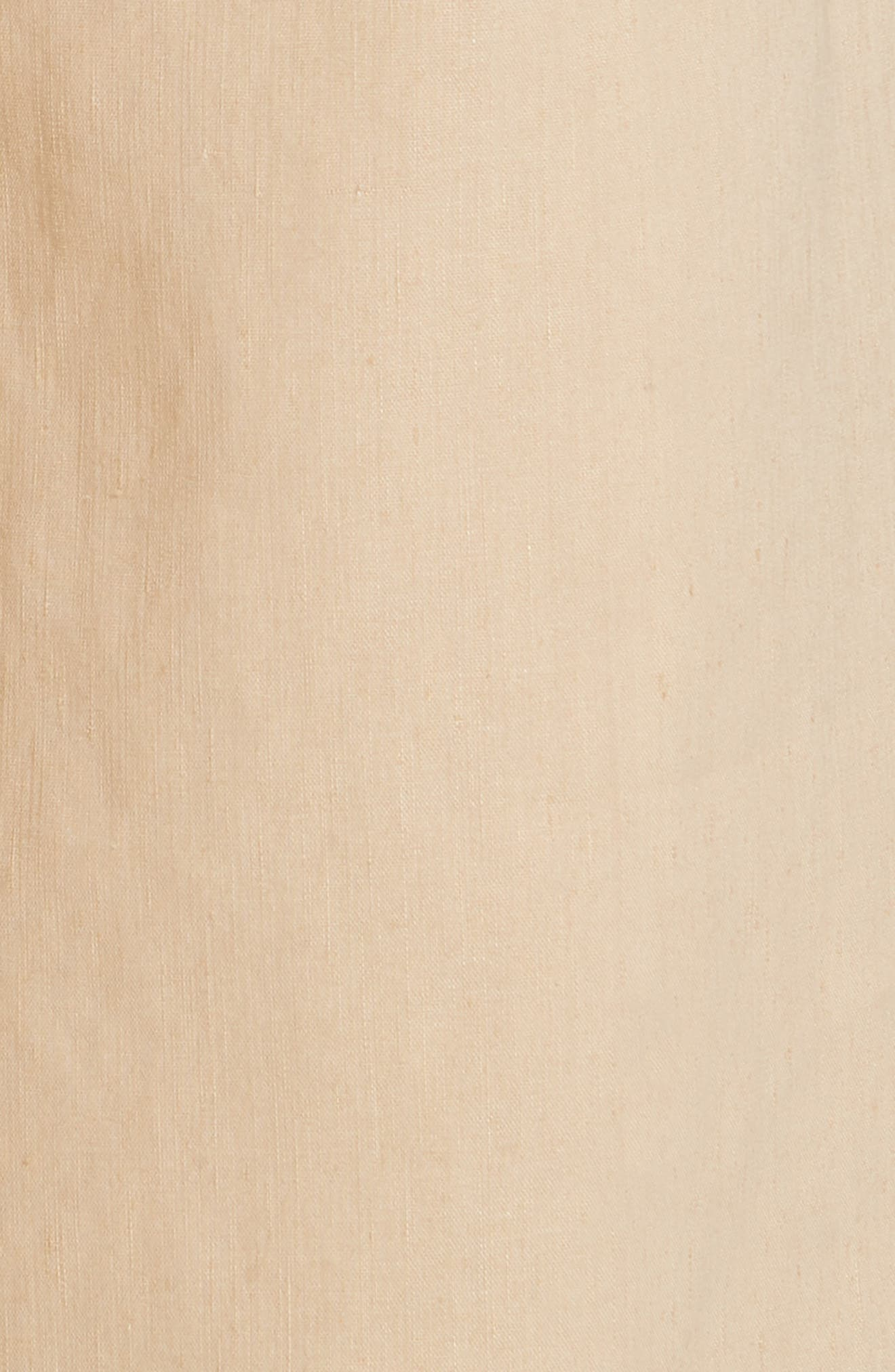 High Rise Linen Blend Culottes,                             Alternate thumbnail 5, color,                             KHAKI