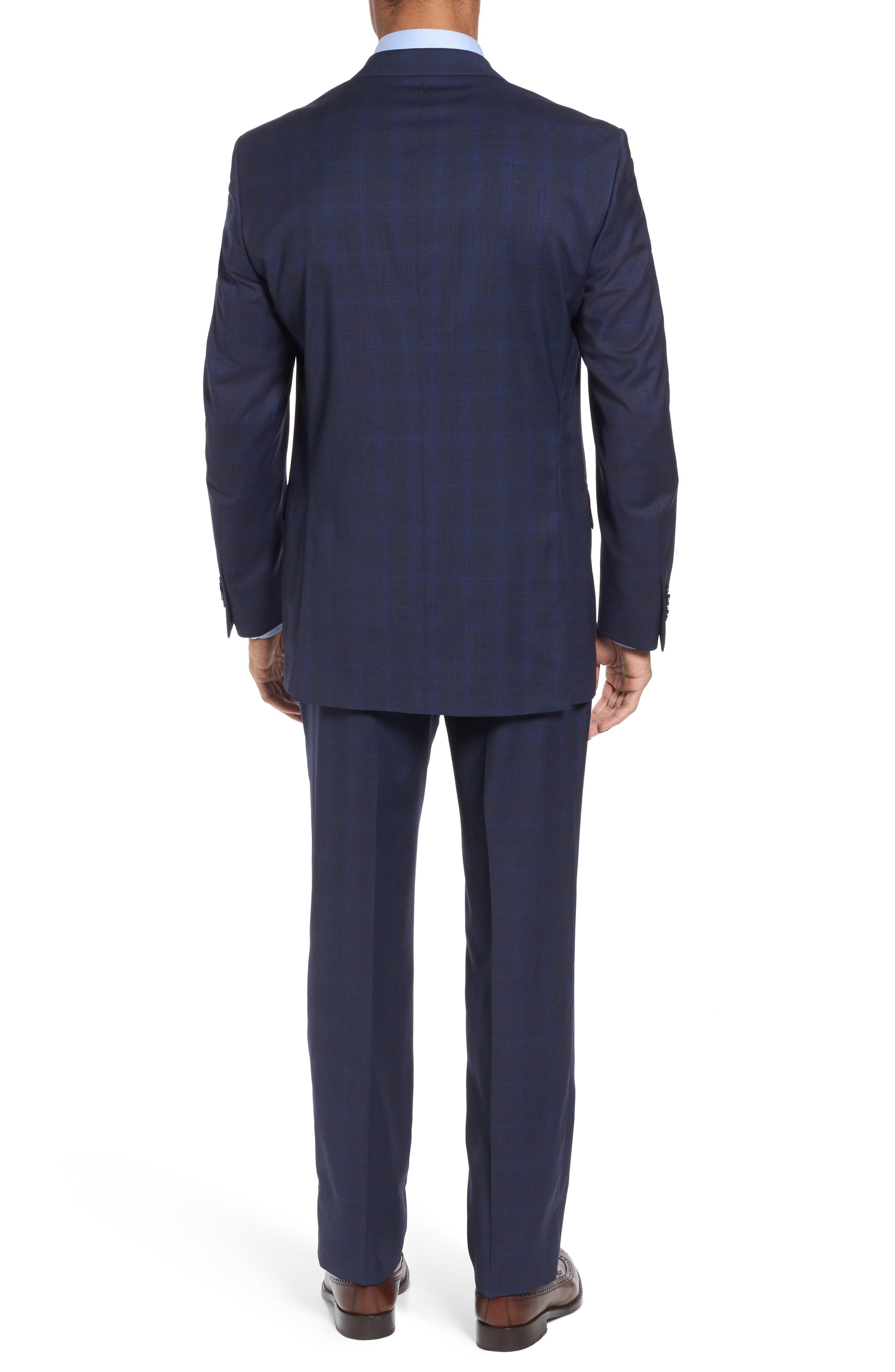 Classic Fit Plaid Wool Suit,                             Alternate thumbnail 2, color,                             410