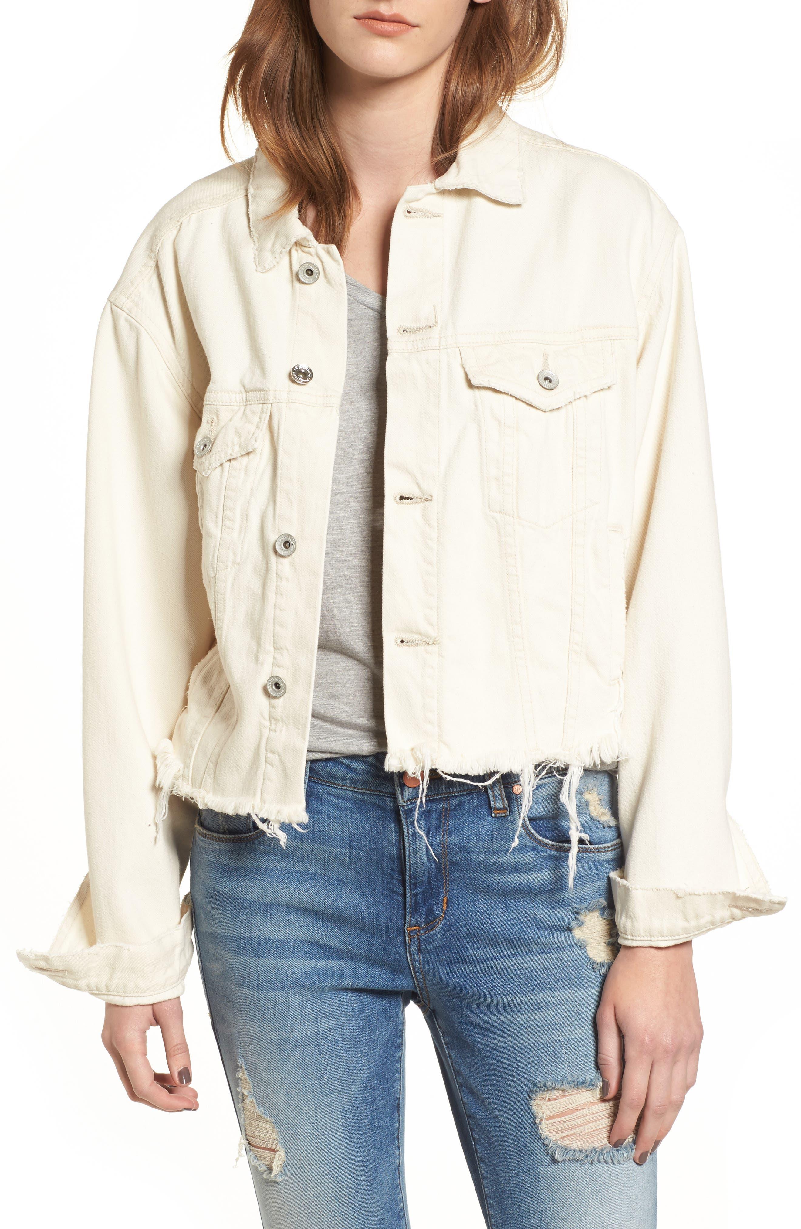 Bailey Cutoff Denim Jacket,                         Main,                         color, 900