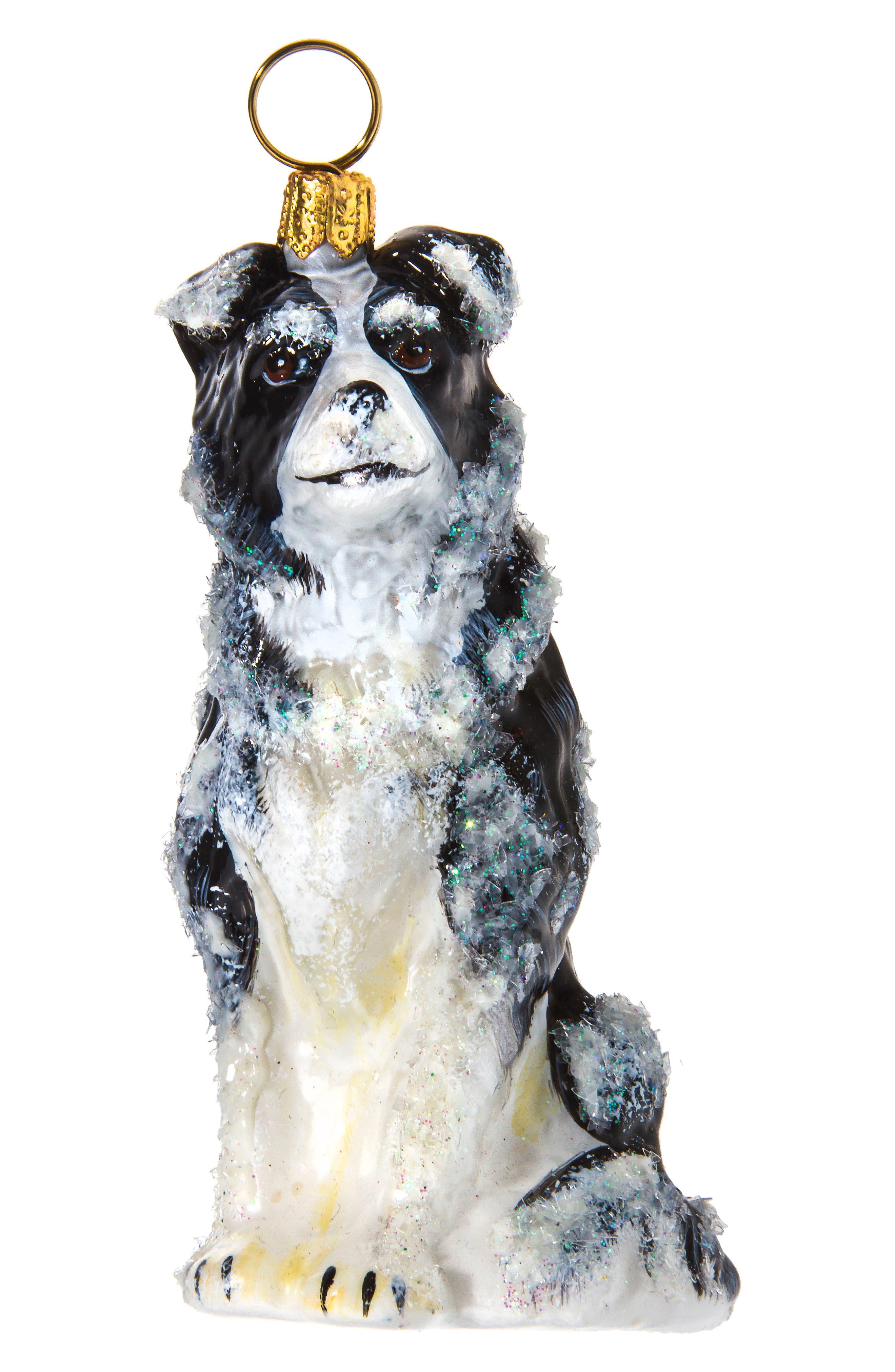 Dog Ornament,                             Main thumbnail 1, color,                             BORDER COLLIE