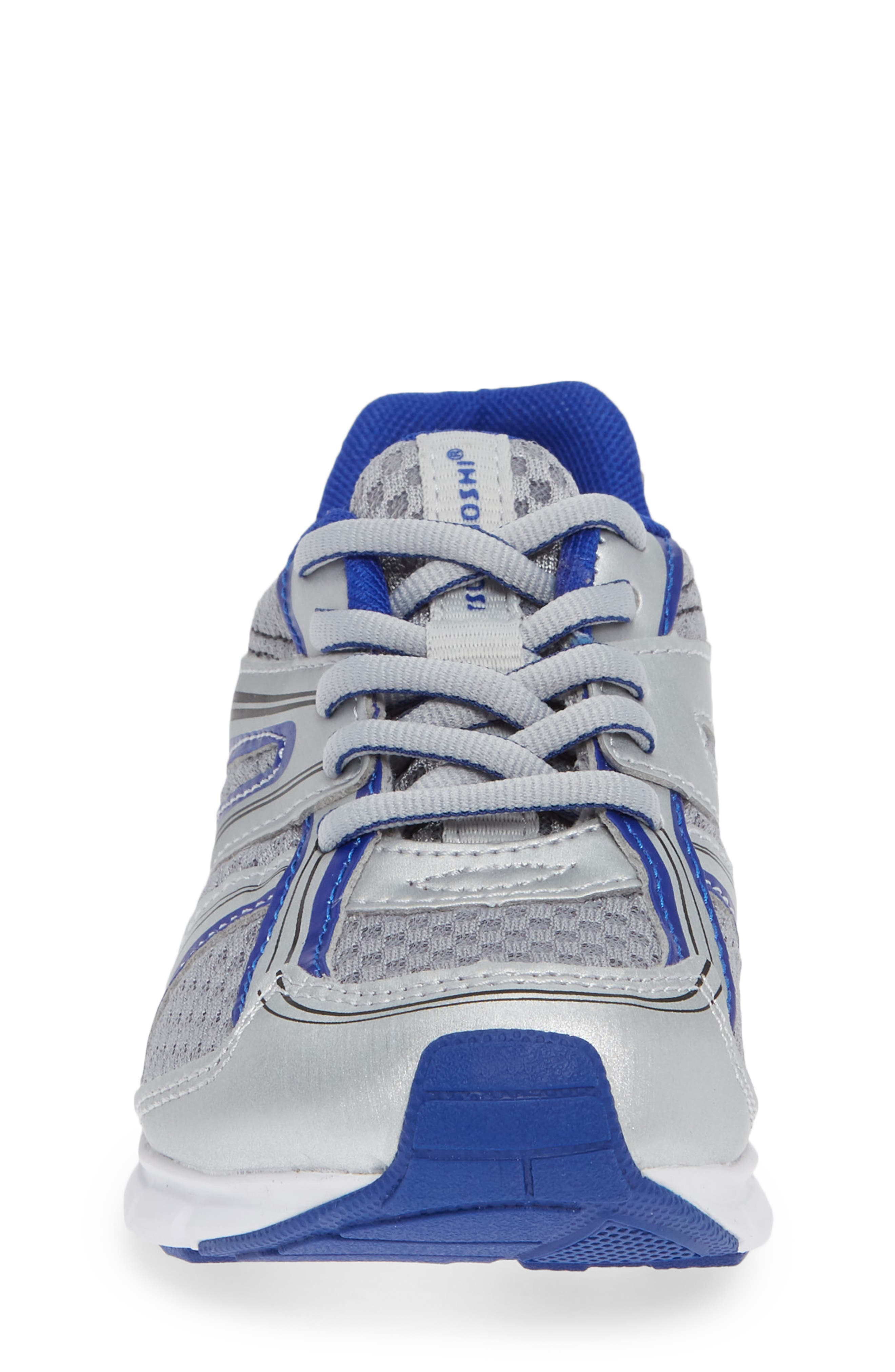 Dash Washable Sneaker,                             Alternate thumbnail 4, color,                             SILVER/ ROYAL