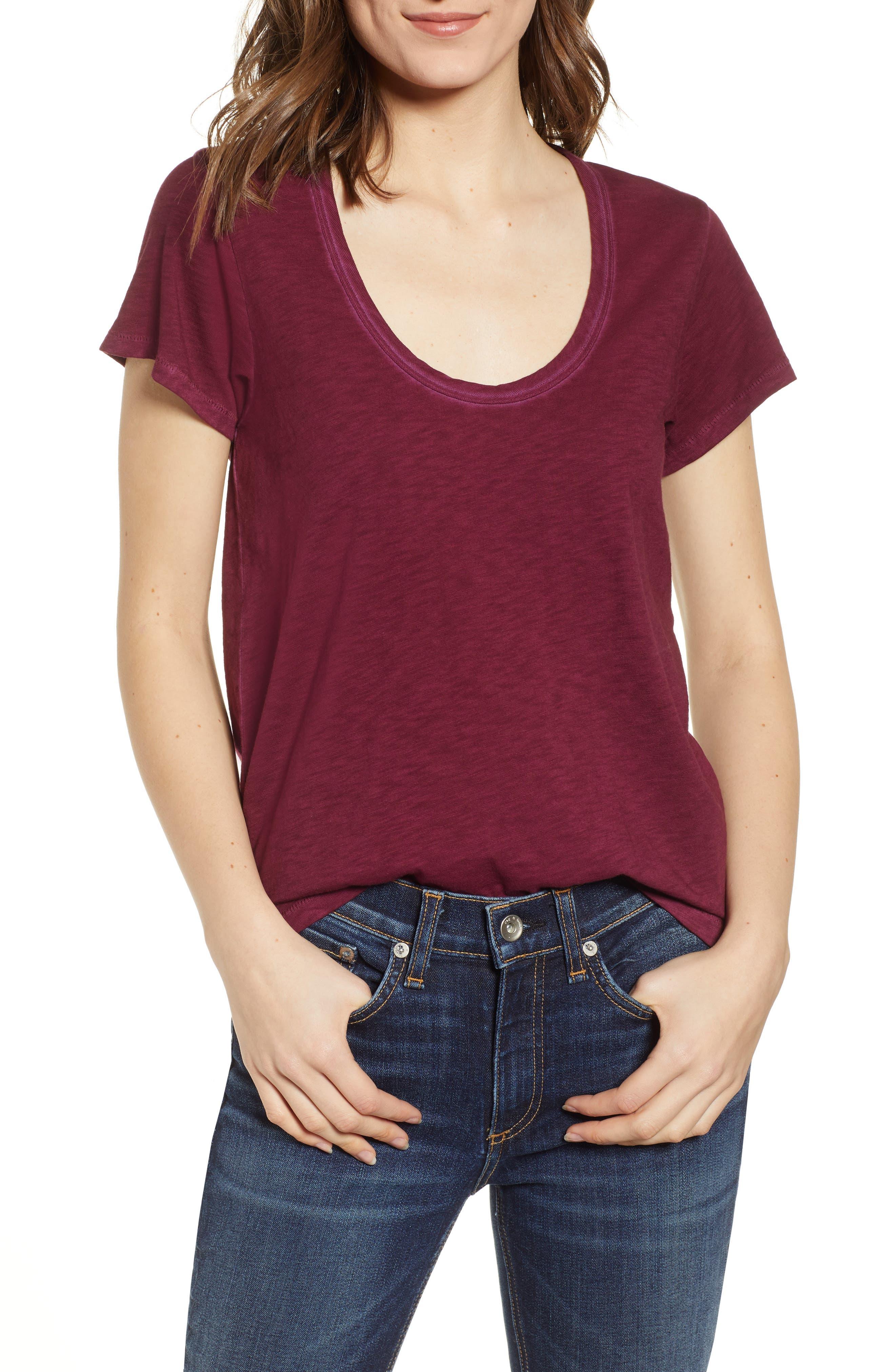 The Tee Short-Sleeve Crewneck T-Shirt in Dusty