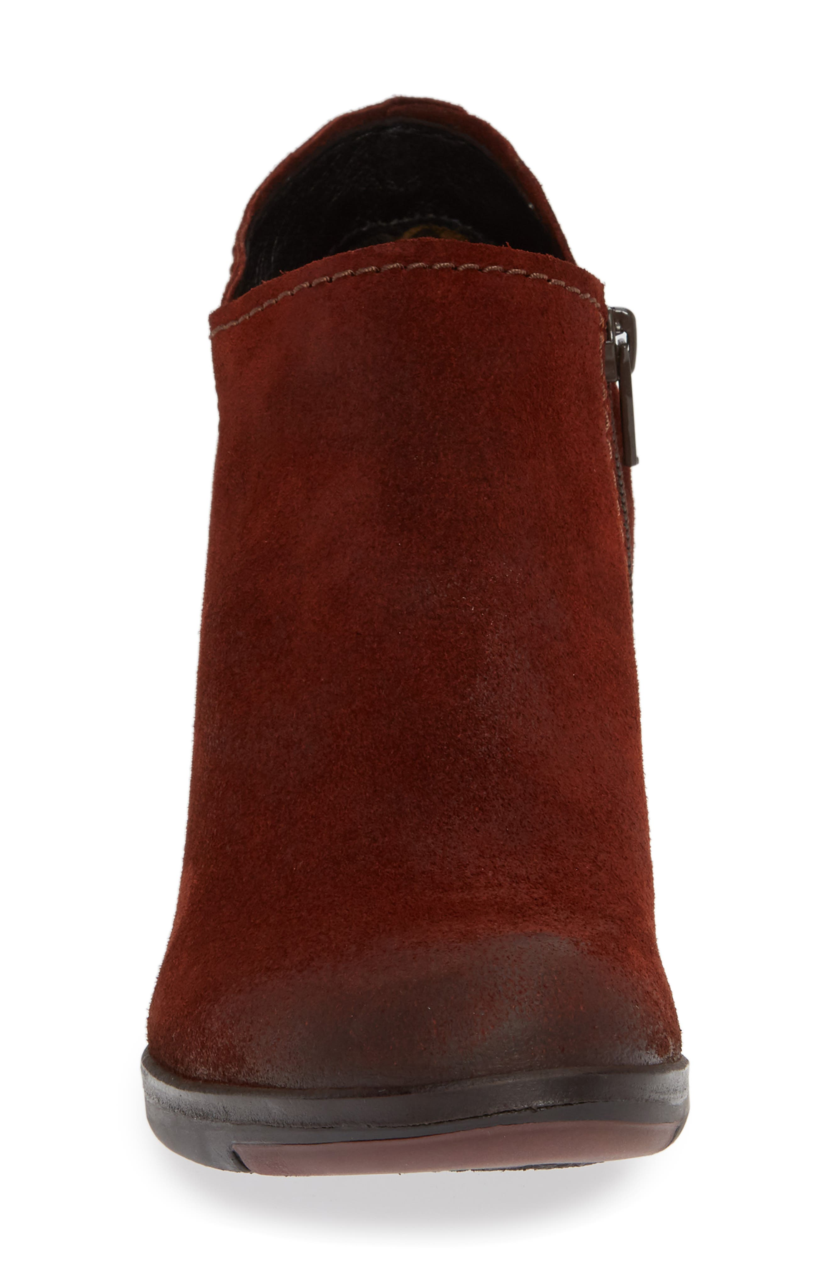 FLY LONDON,                             Hace Bootie,                             Alternate thumbnail 4, color,                             BRICK OIL SUEDE